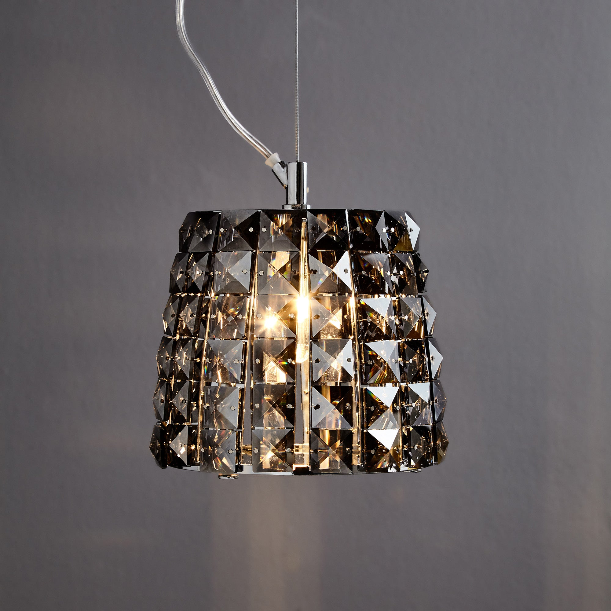 Image of Marquis by Waterford Moy Black Chrome Light Pendant Black