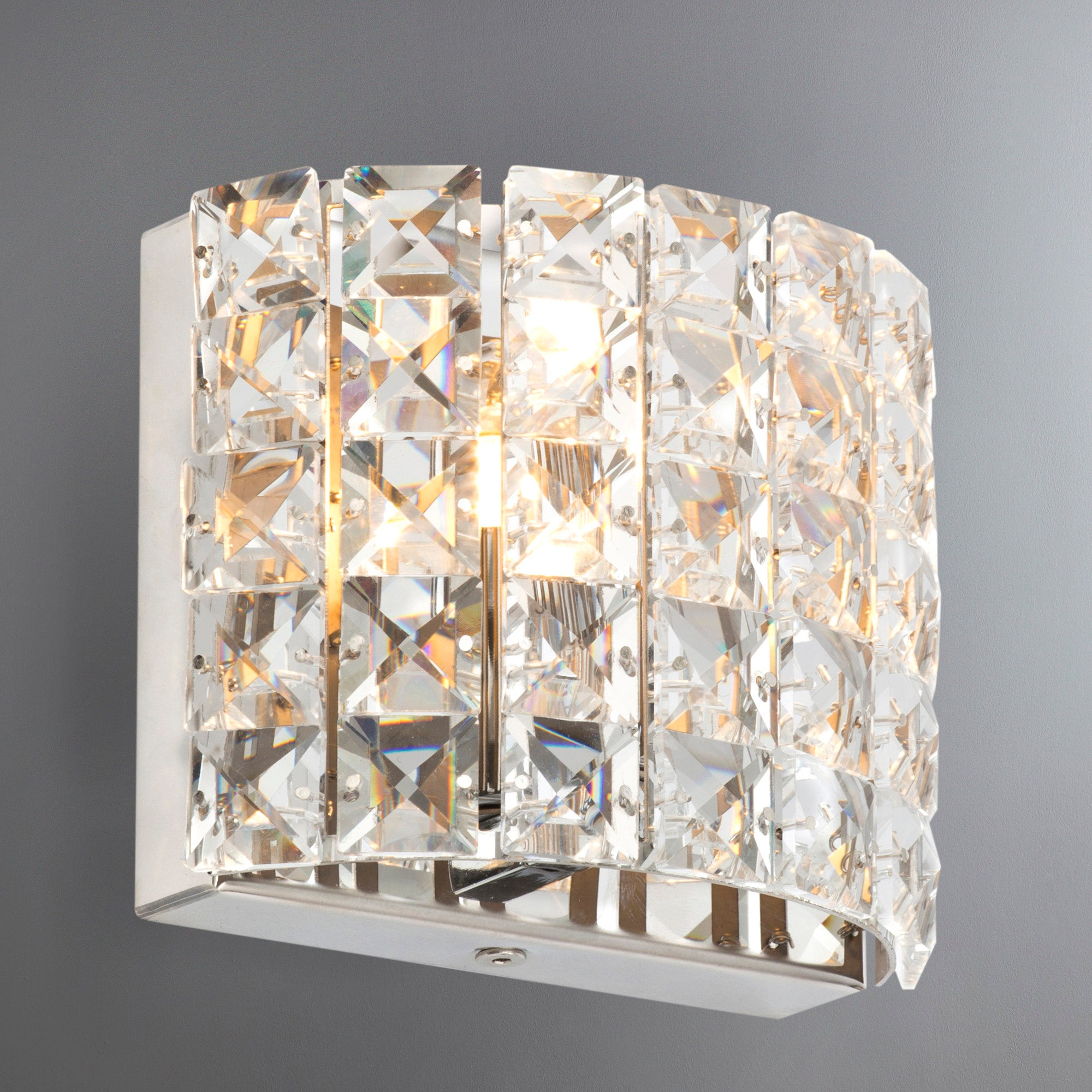 Image of Marquis by Waterford Moy Chrome Wall Light Chrome