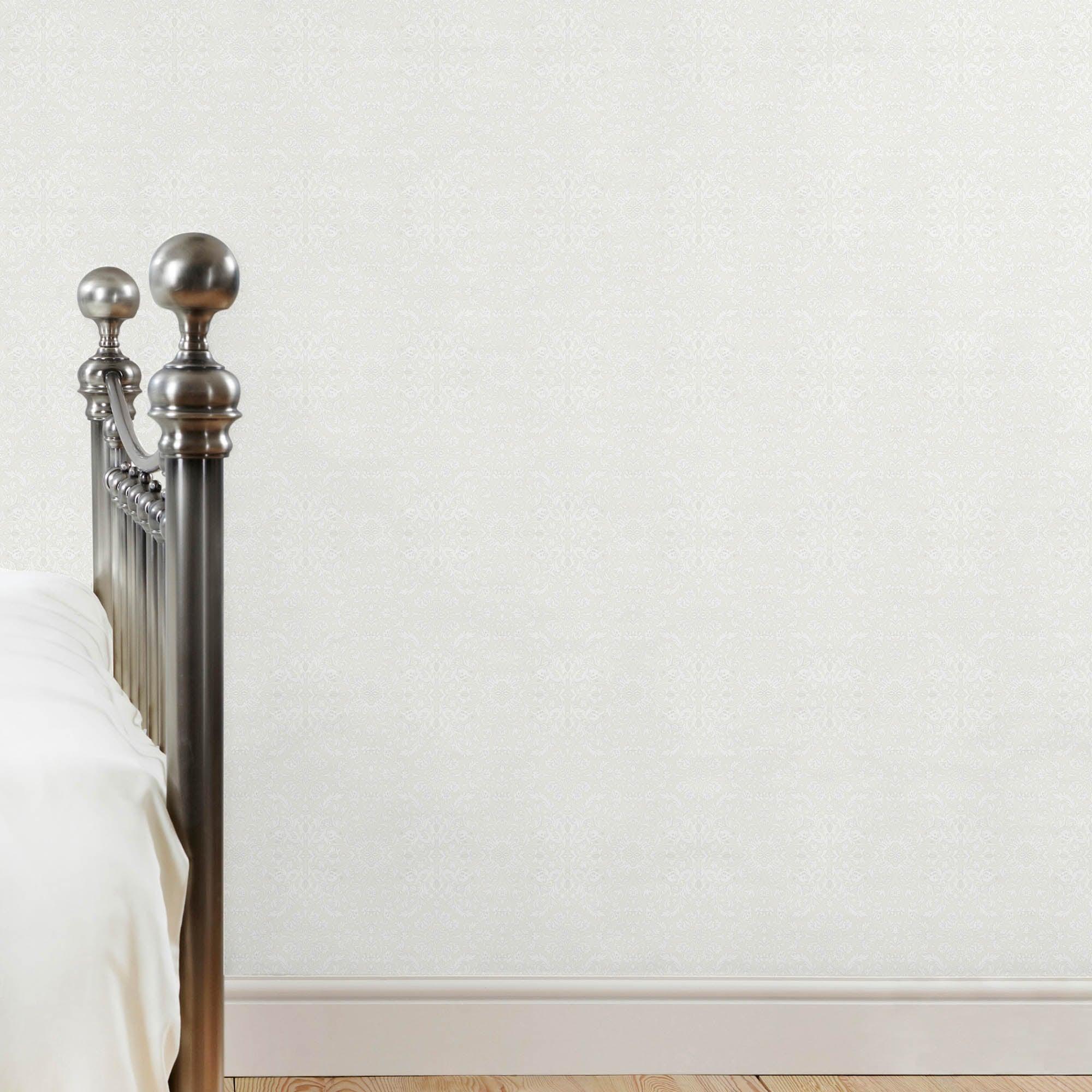Dorma Charlbury Wallpaper White