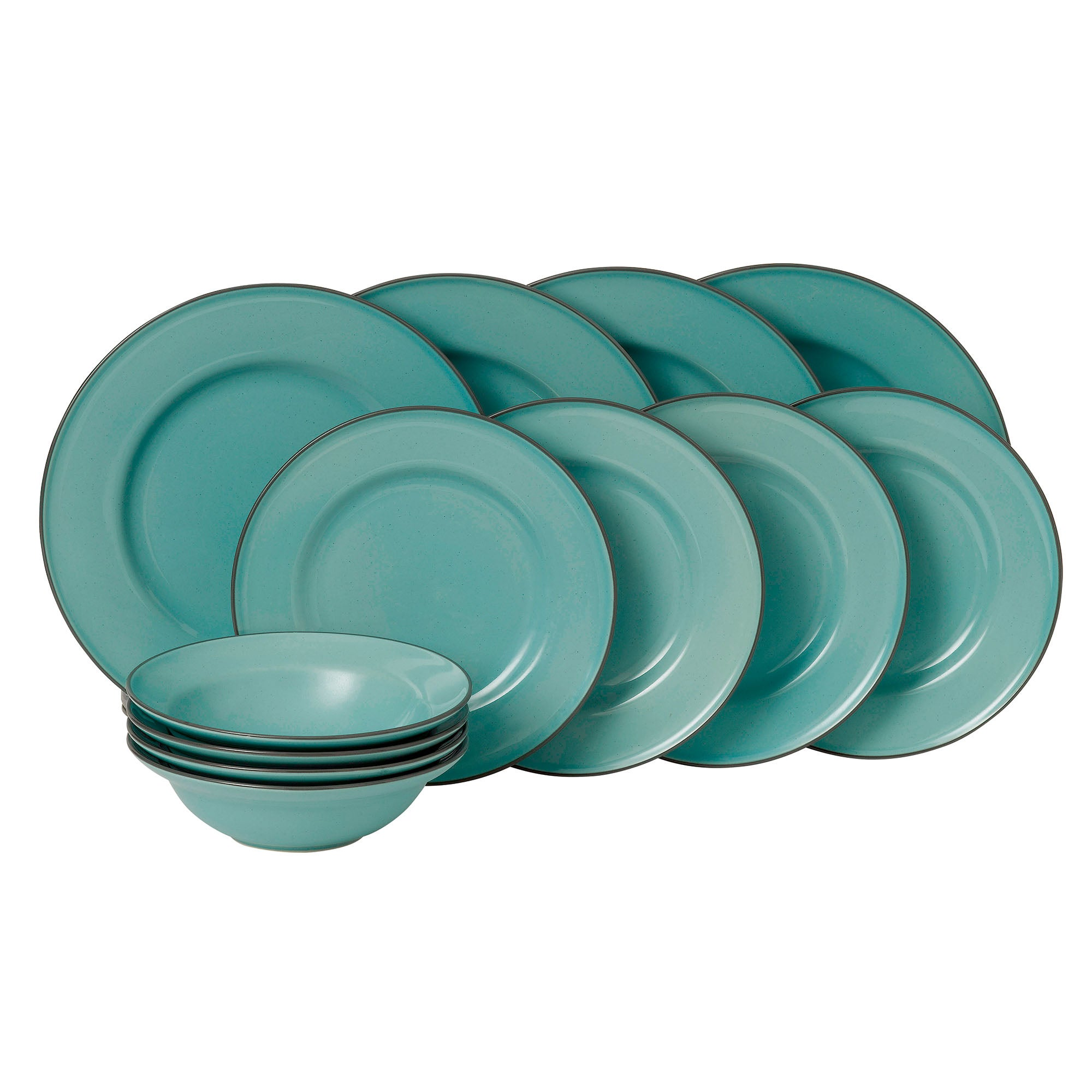 Image of Gordon Ramsay Royal Doulton Teal Union Street Cafe 12 Piece Dinner Set Teal (Blue)