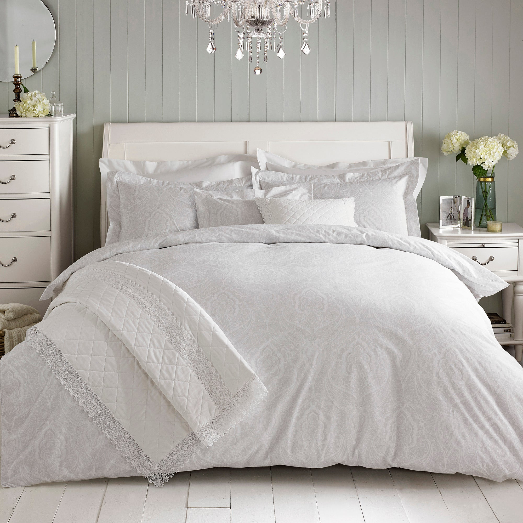 Image of Holly Willoughby Paisley Natural Duvet Cover Natural