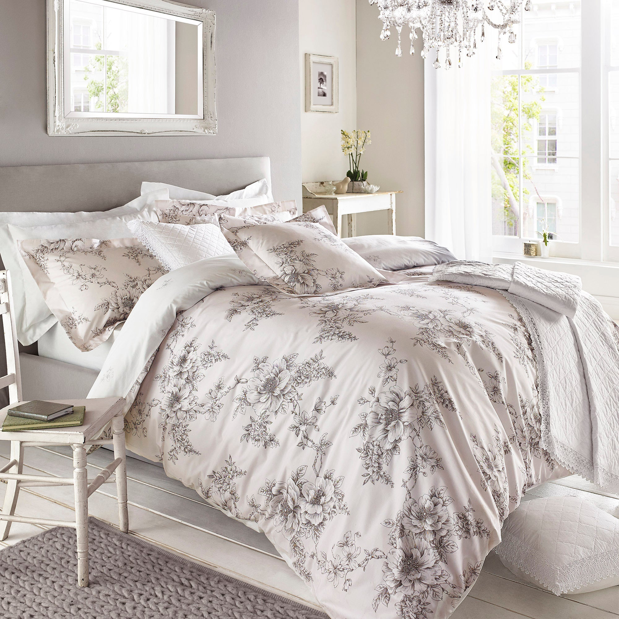 Image of Holly Willoughby Jenna Pink Duvet Cover Pink