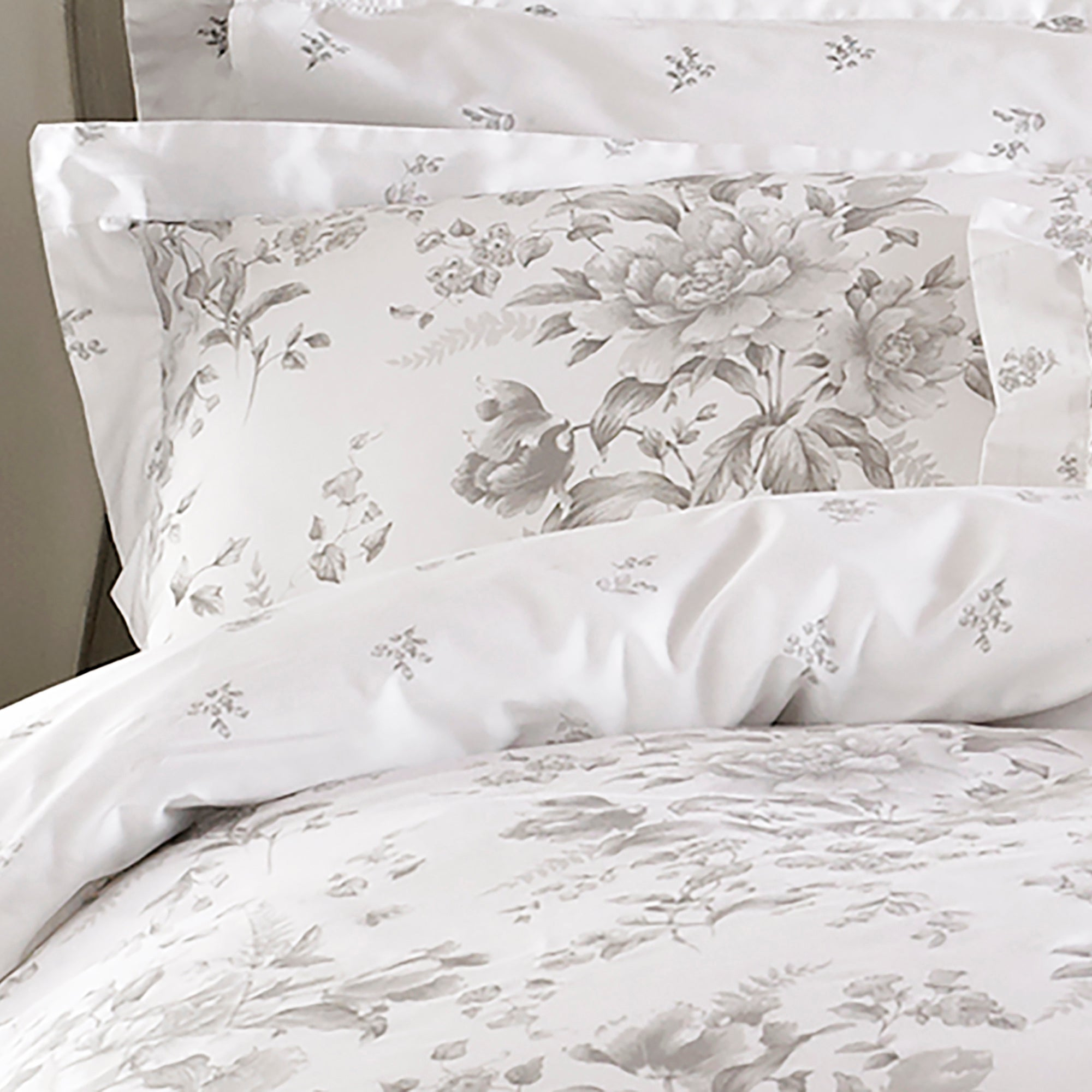 Image of Holly Willoughby Ruby Grey Pillowcase Pair Grey