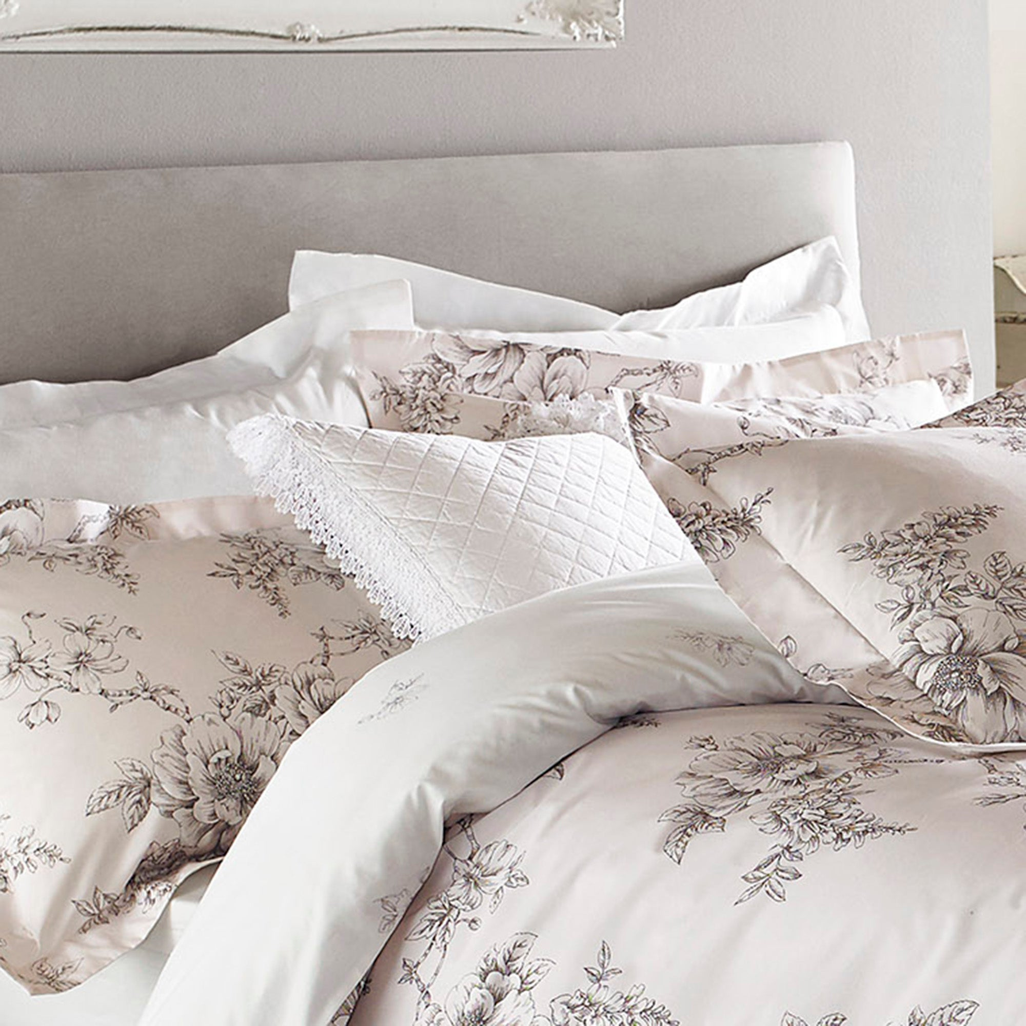 Image of Holly Willoughby Henrietta White Cushion White