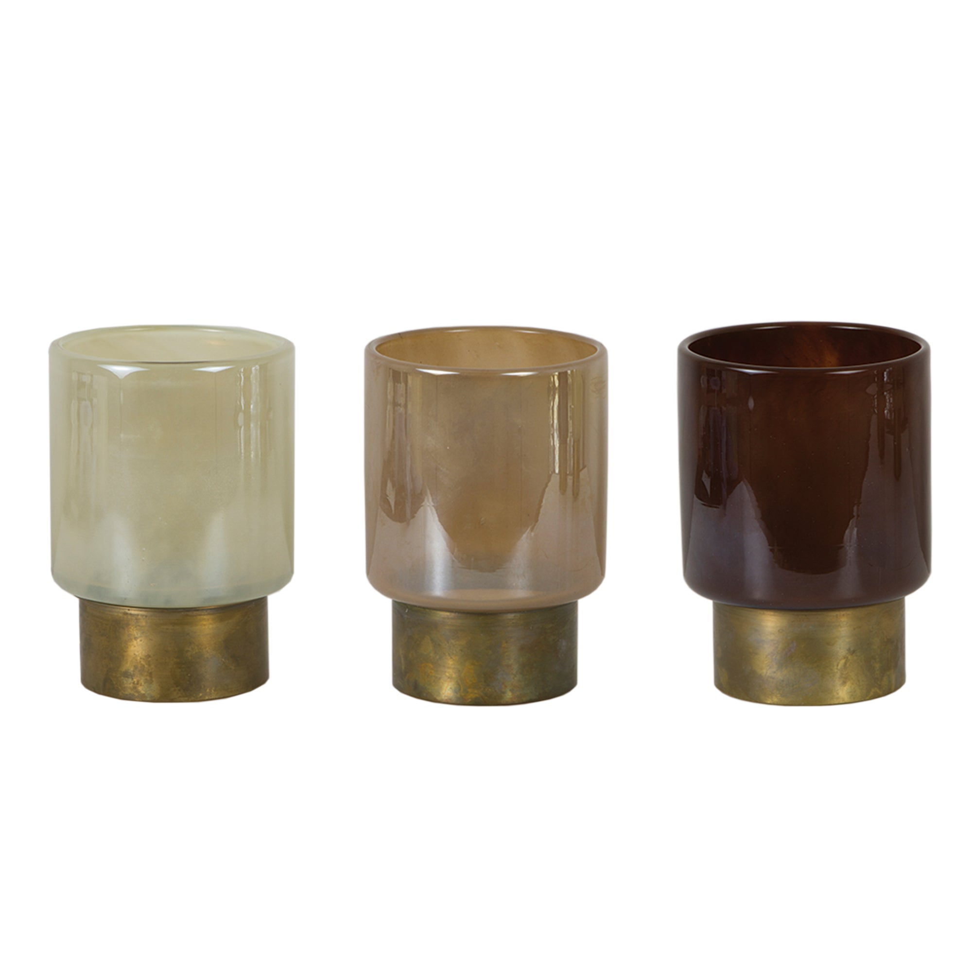 Photo of Hotel set of 3 glass tealight holders multi