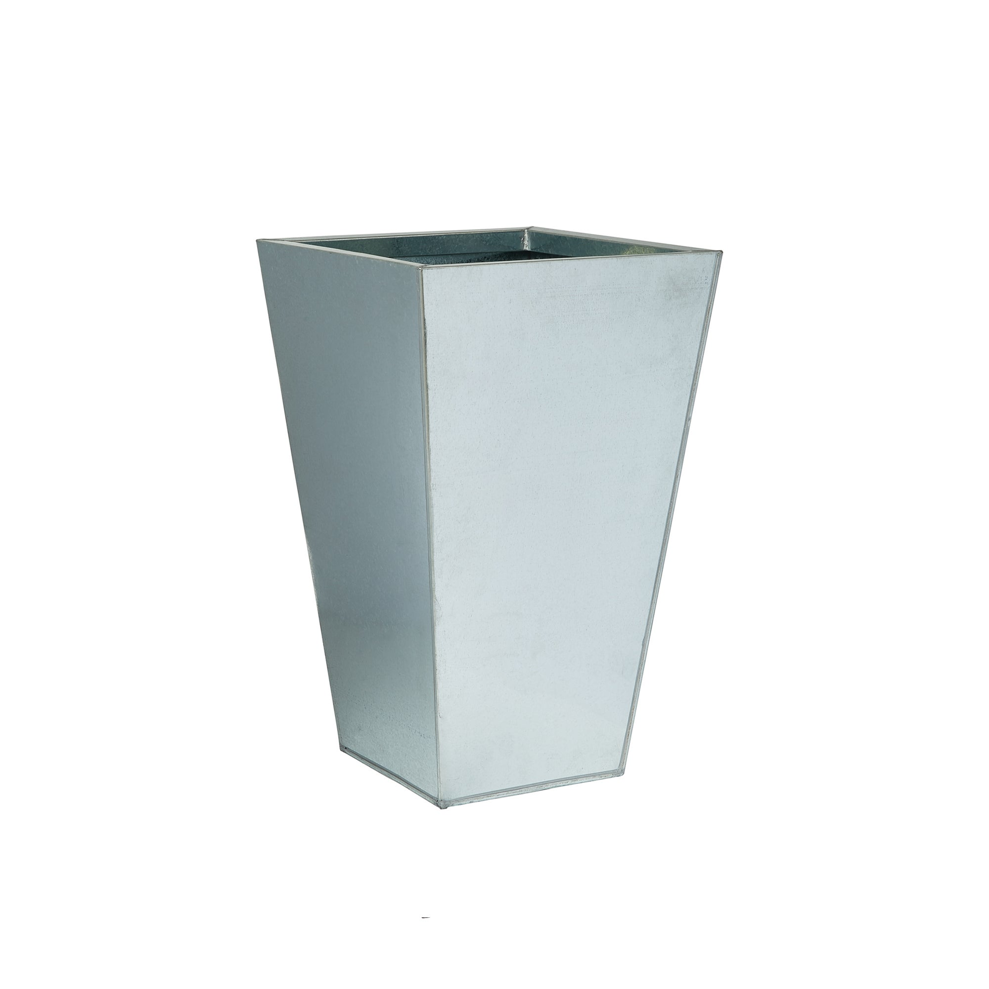 Image of Metal Tapered Planter Silver