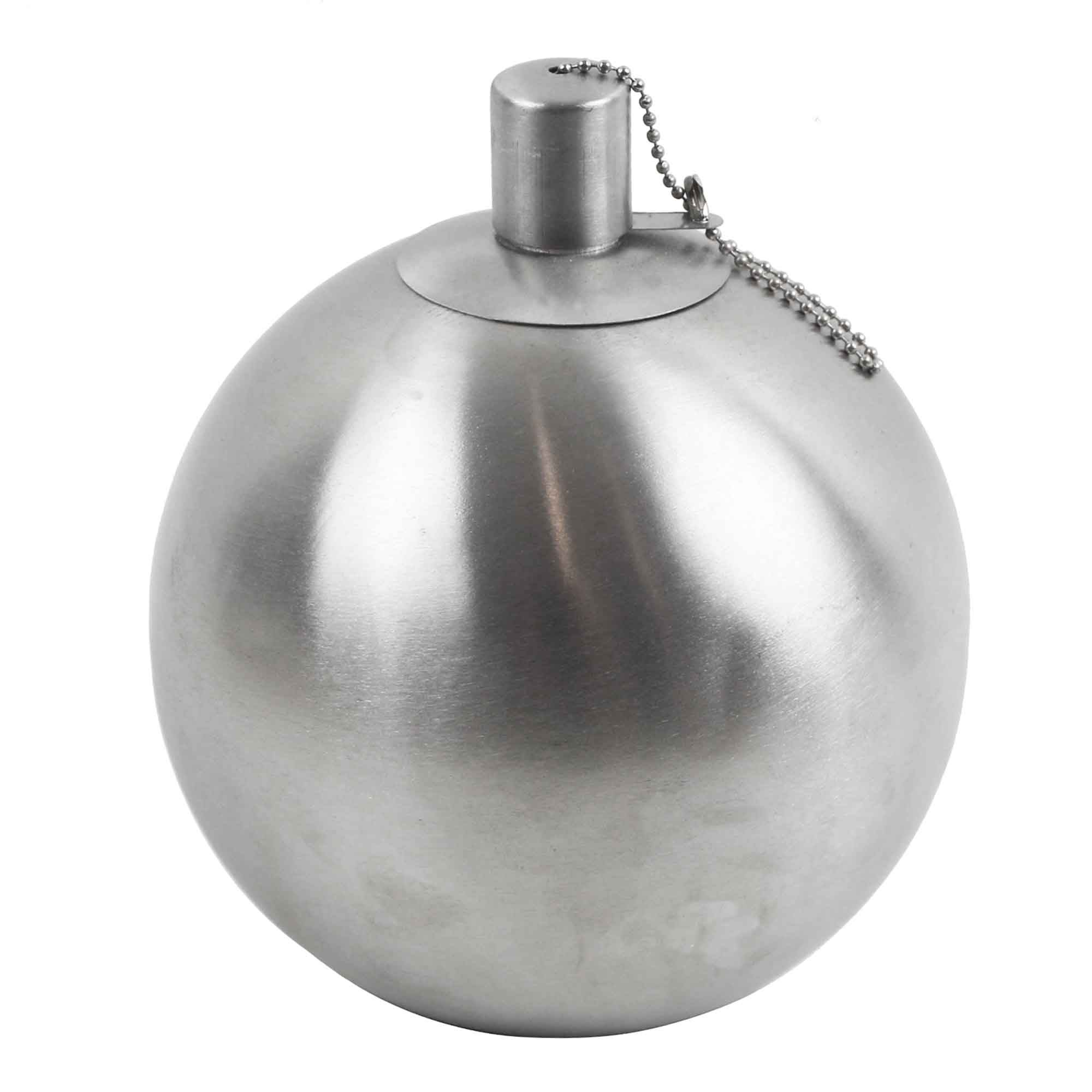 Image of 16cm Stainless Steel Ball Oil Lamp Silver