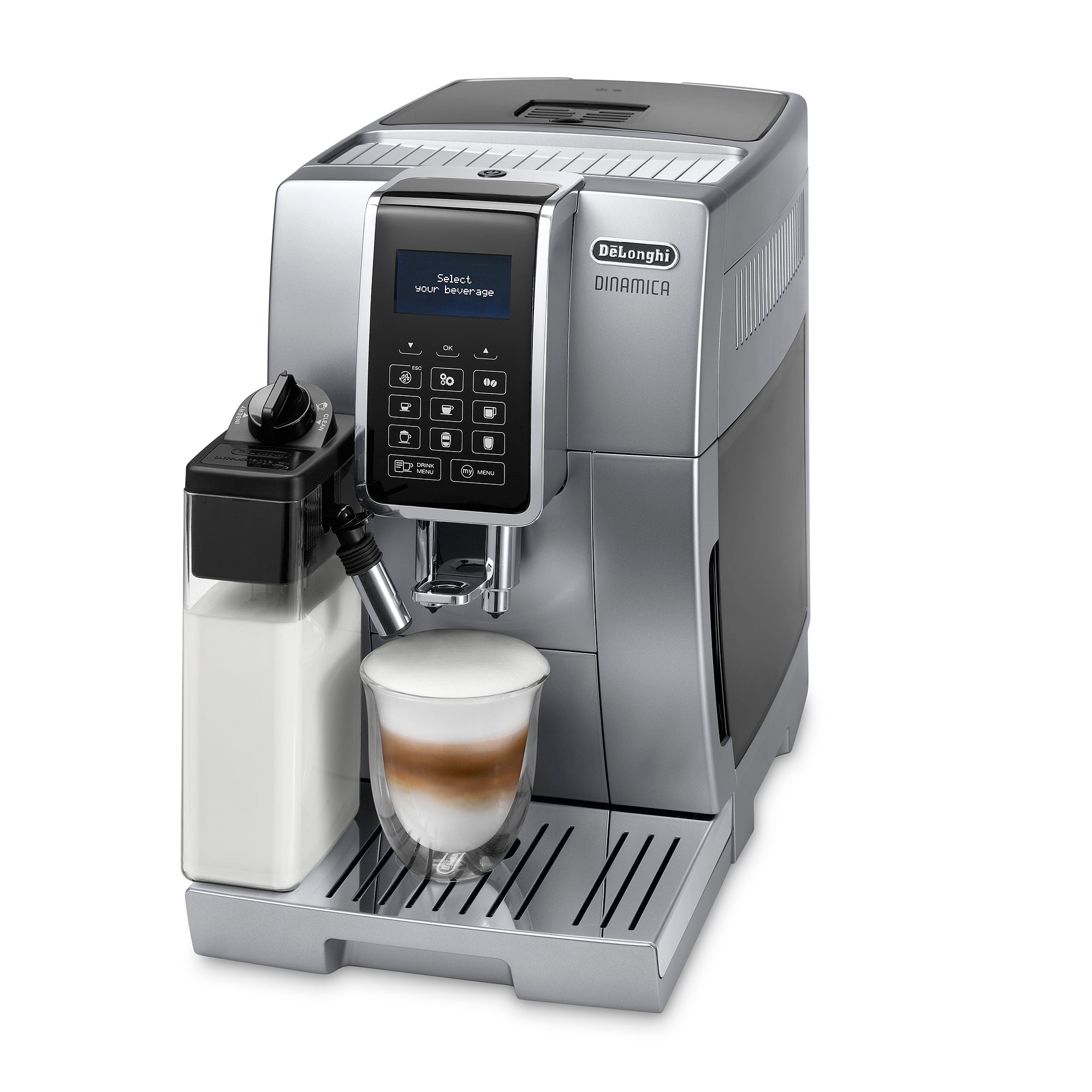 Photo of Delonghi dinamica silver coffee machine ecam35075s silver