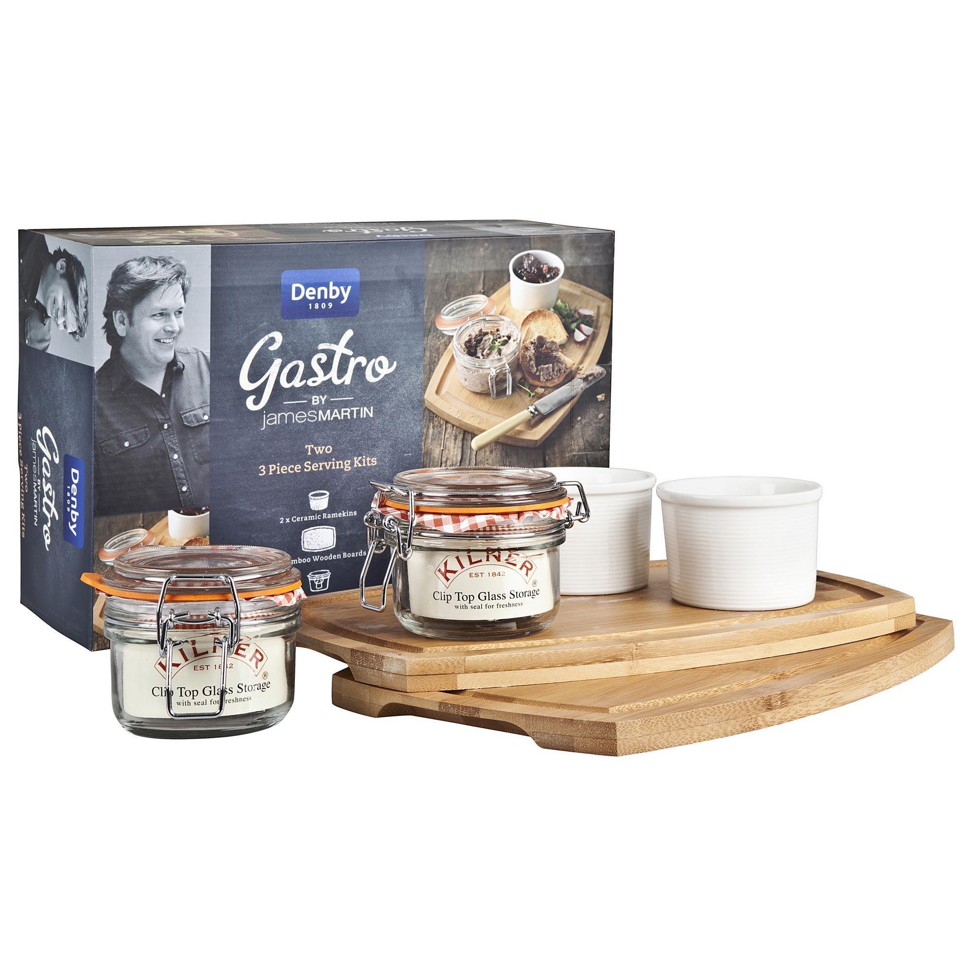 Image of Denby James Martin Gastro 3 Piece Serving Kit Cream