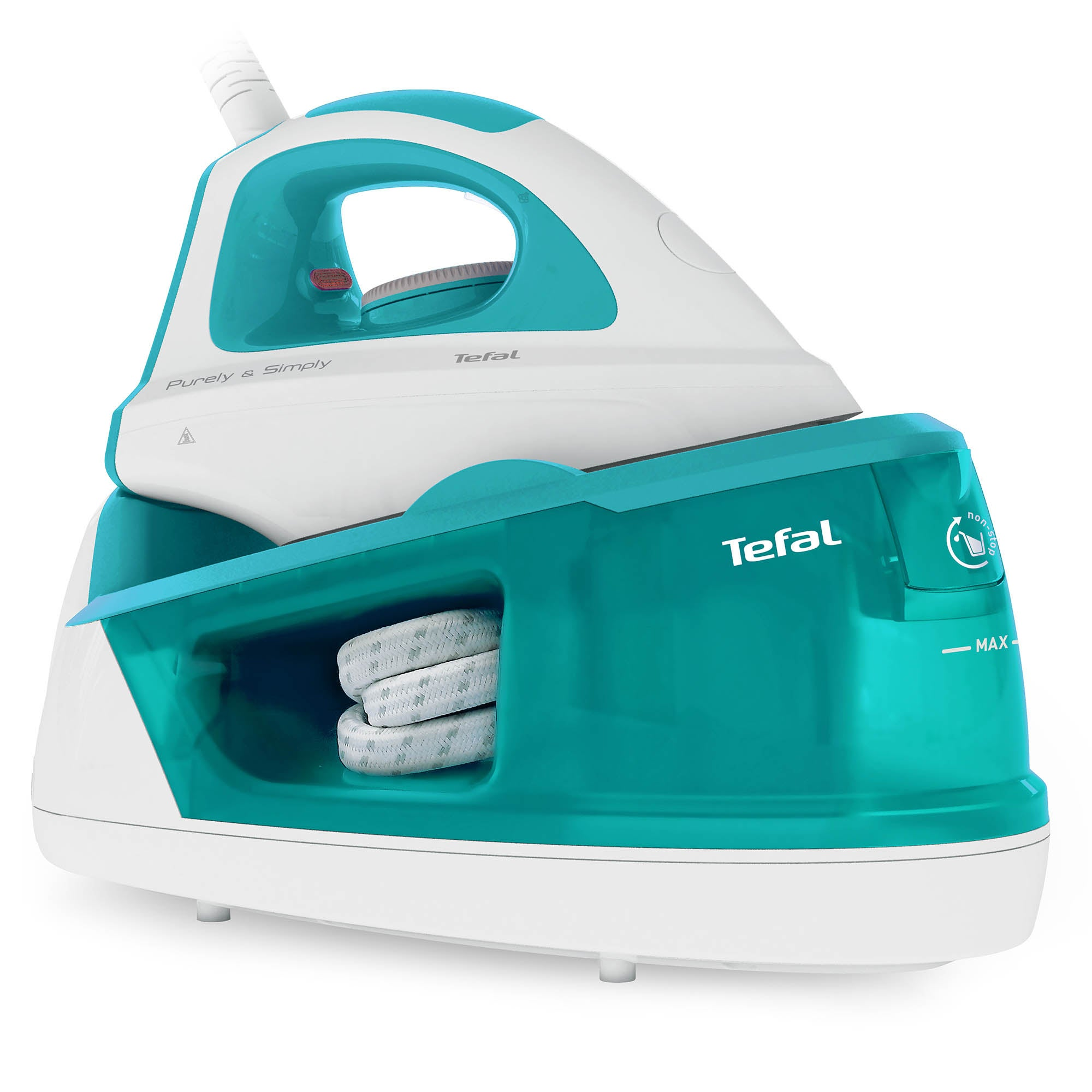 Tefal SV5011 2200w Steam Generator Iron TurquoiseWhite