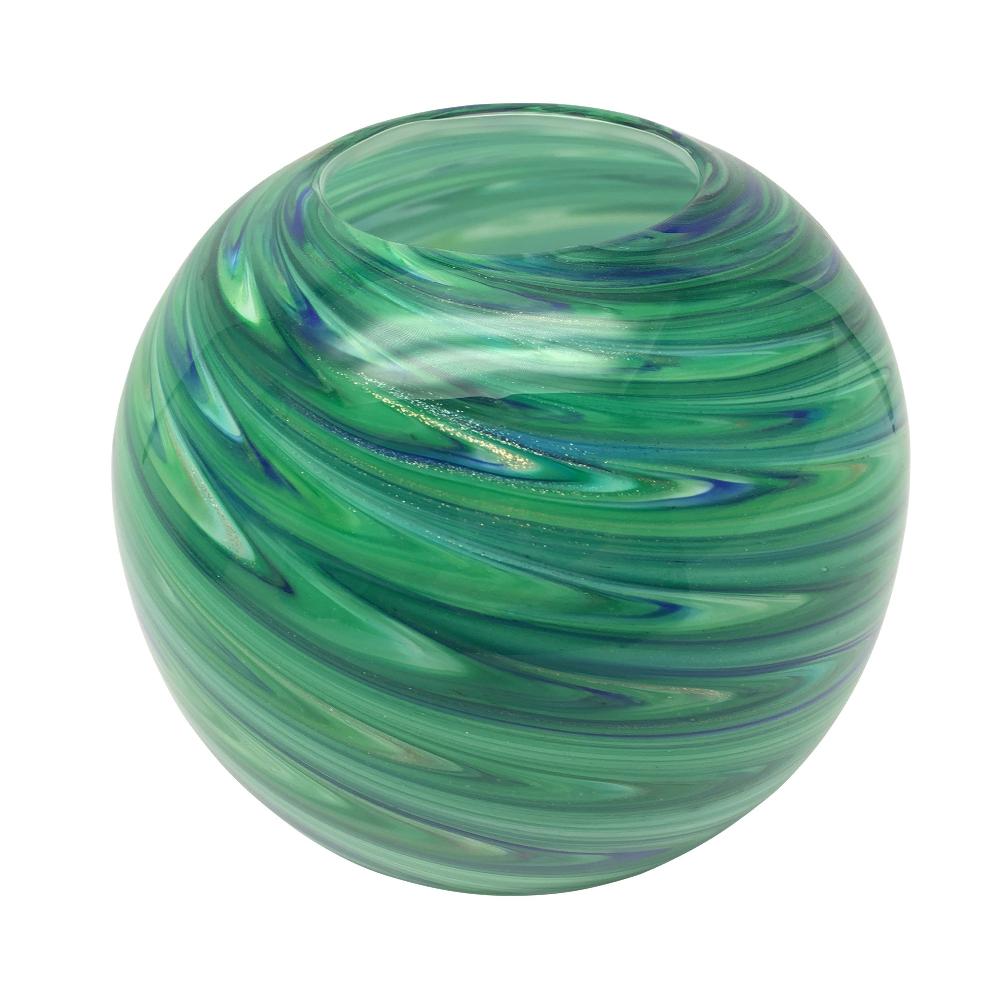 Photo of Colonial charm peacock glass bowl blue