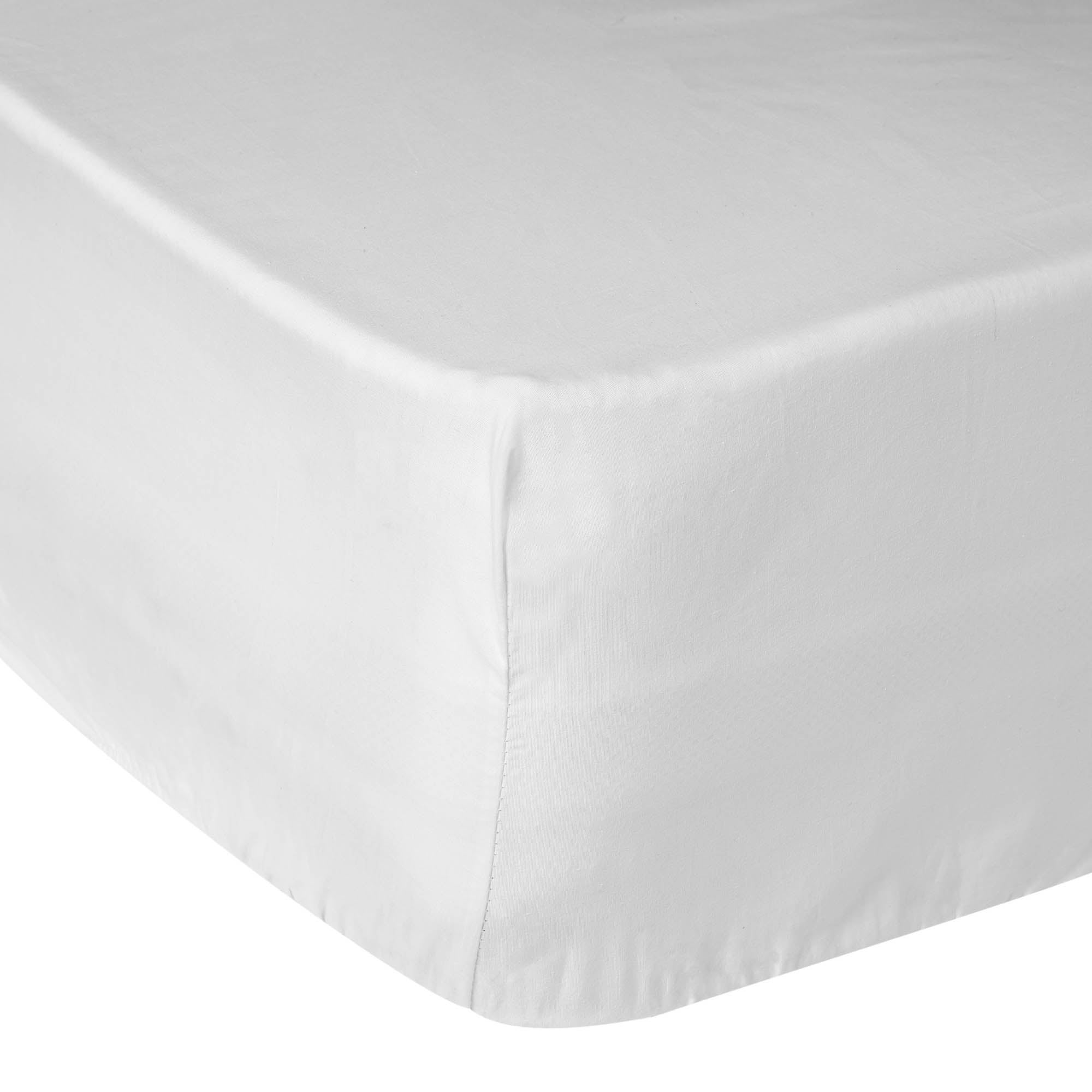 Image of 5A Fifth Avenue 300 Thread Count Modal White Fitted Sheet Fresh White