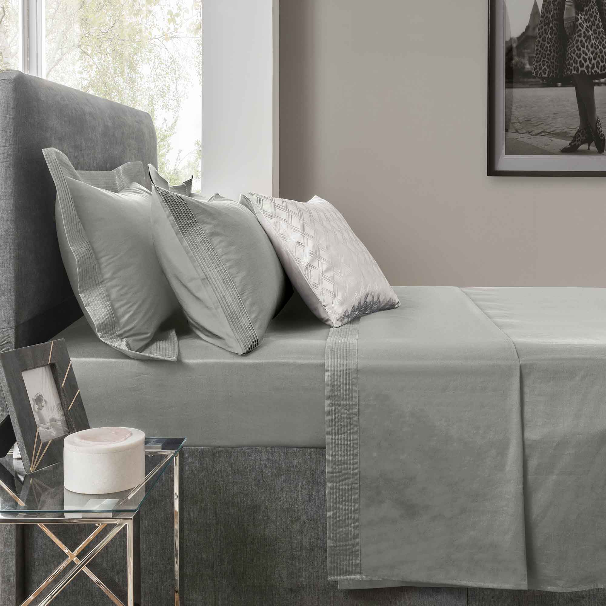 Image of 5A Fifth Avenue 300 Thread Count Modal Platinum Flat Sheet Platinum
