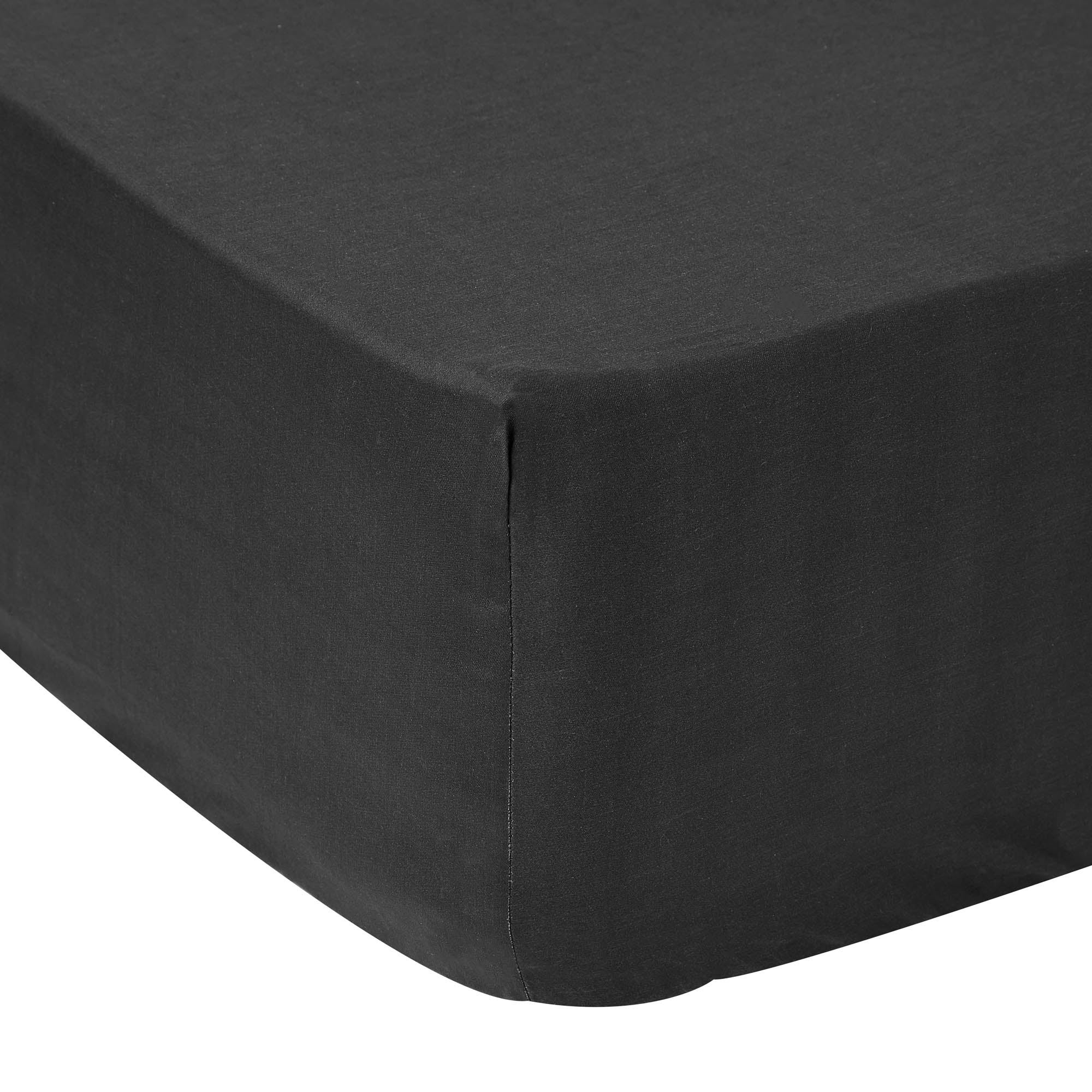 Image of 5A Fifth Avenue 300 Thread Count Modal Black Fitted Sheet Panther Black