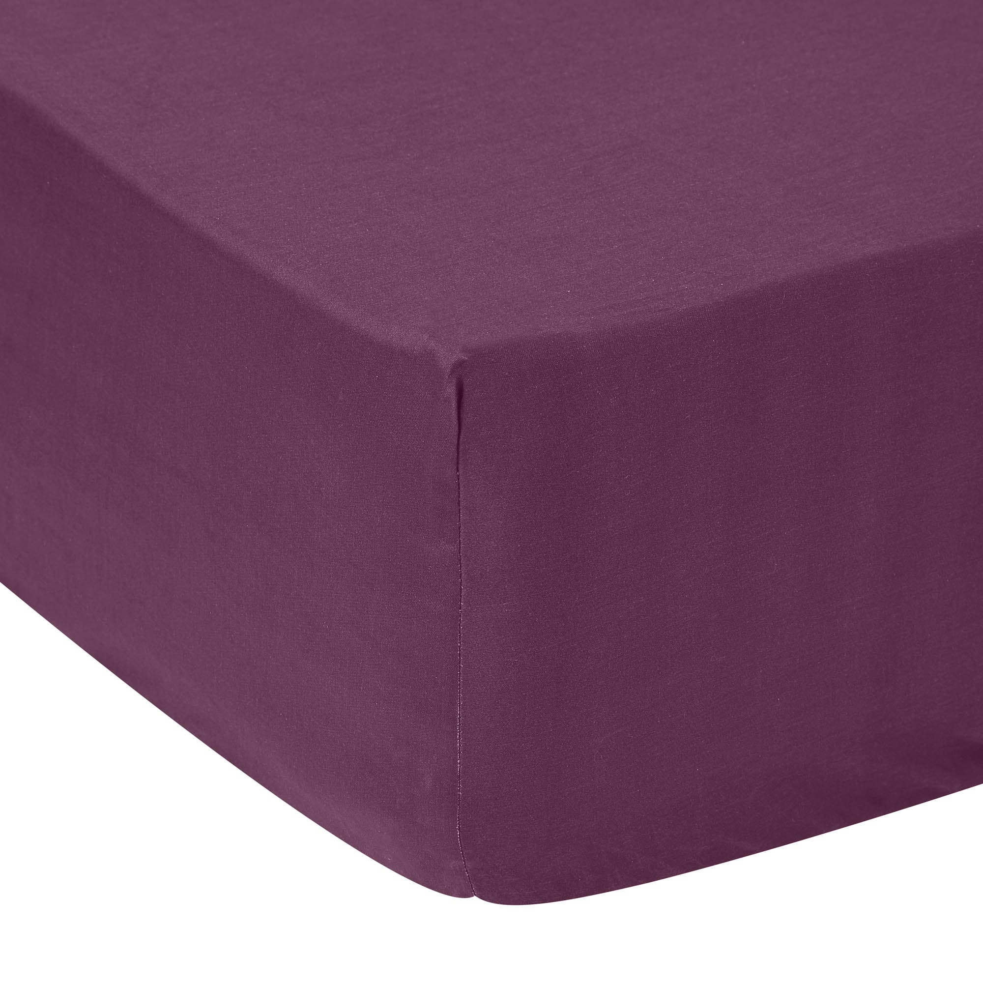 Image of 5A Fifth Avenue 300 Thread Count Modal Plum Fitted Sheet Port Plum
