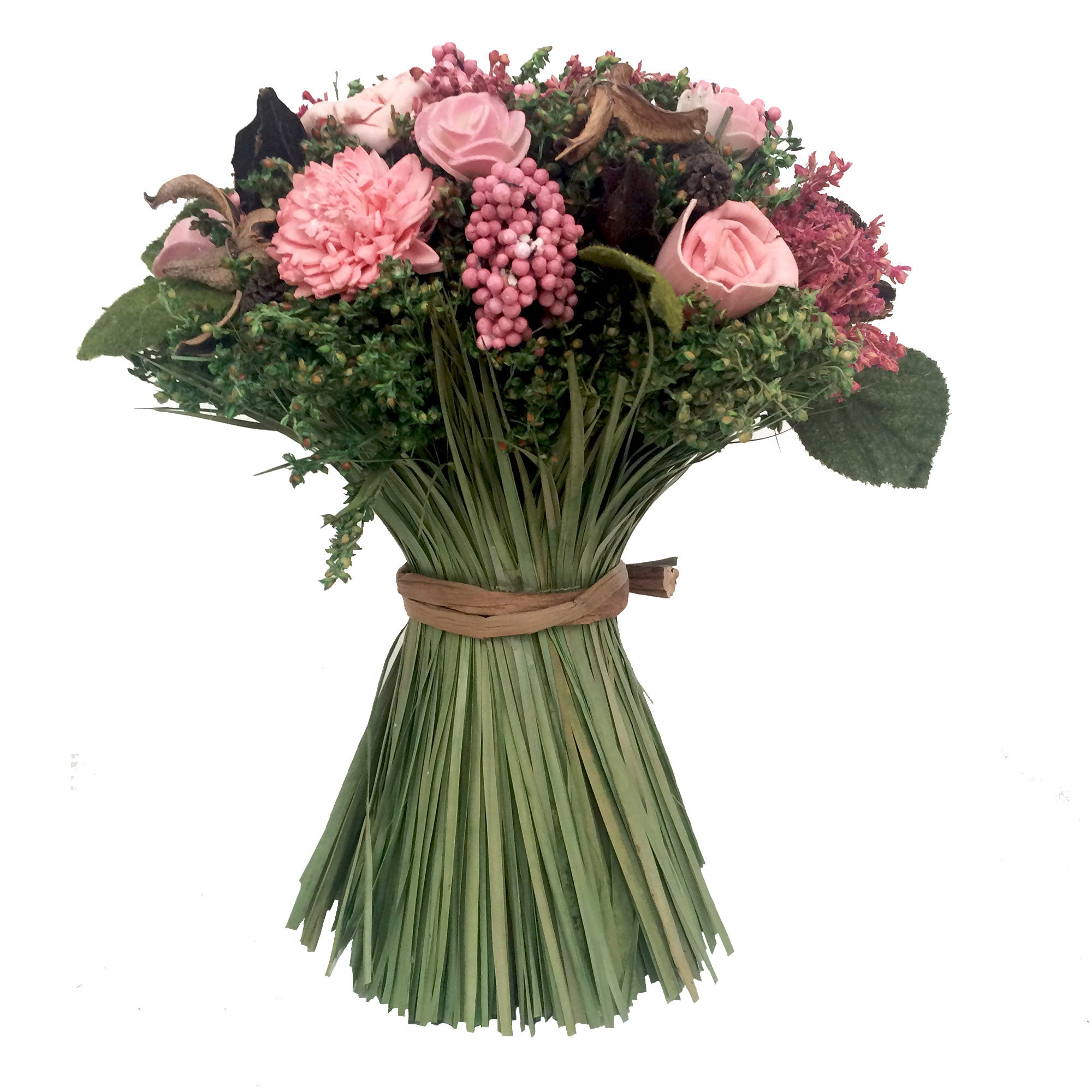 Image of Mixed Dried Flower Bush Pink