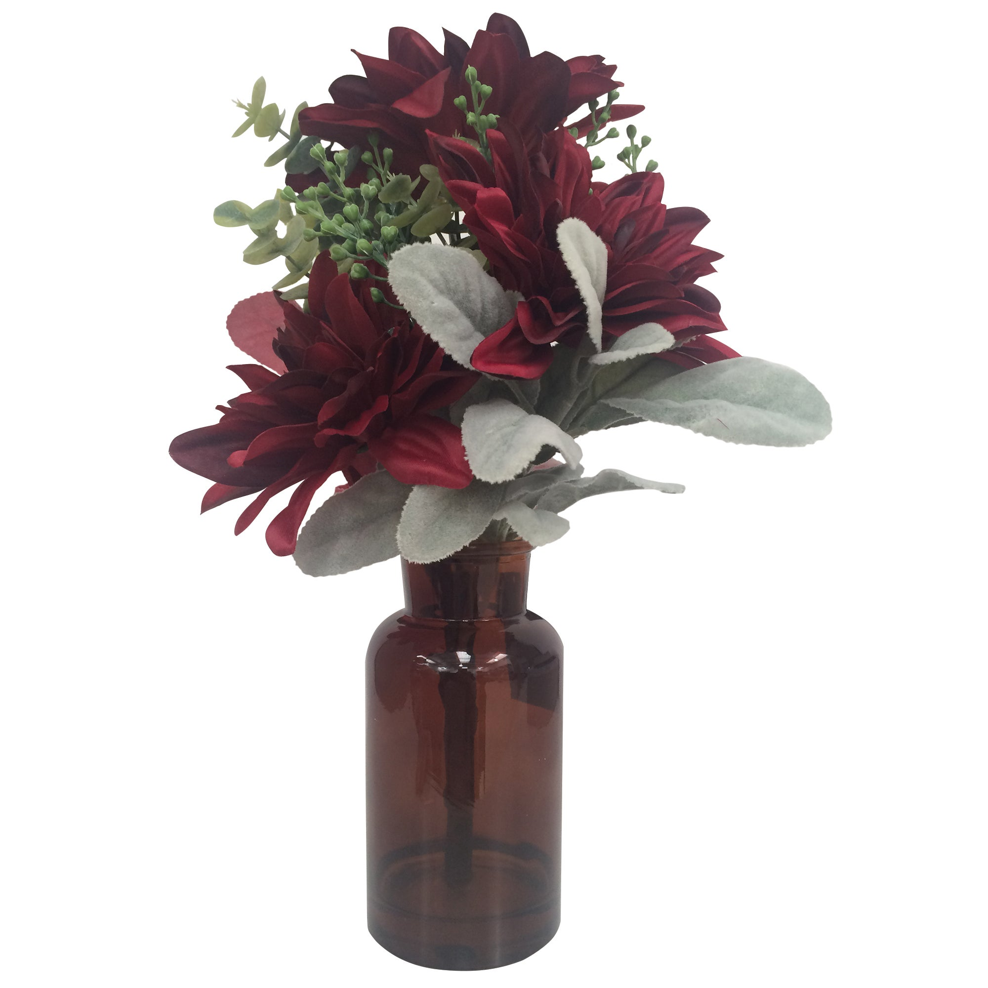 Image of Dahlia Red Flower Arrangement Red