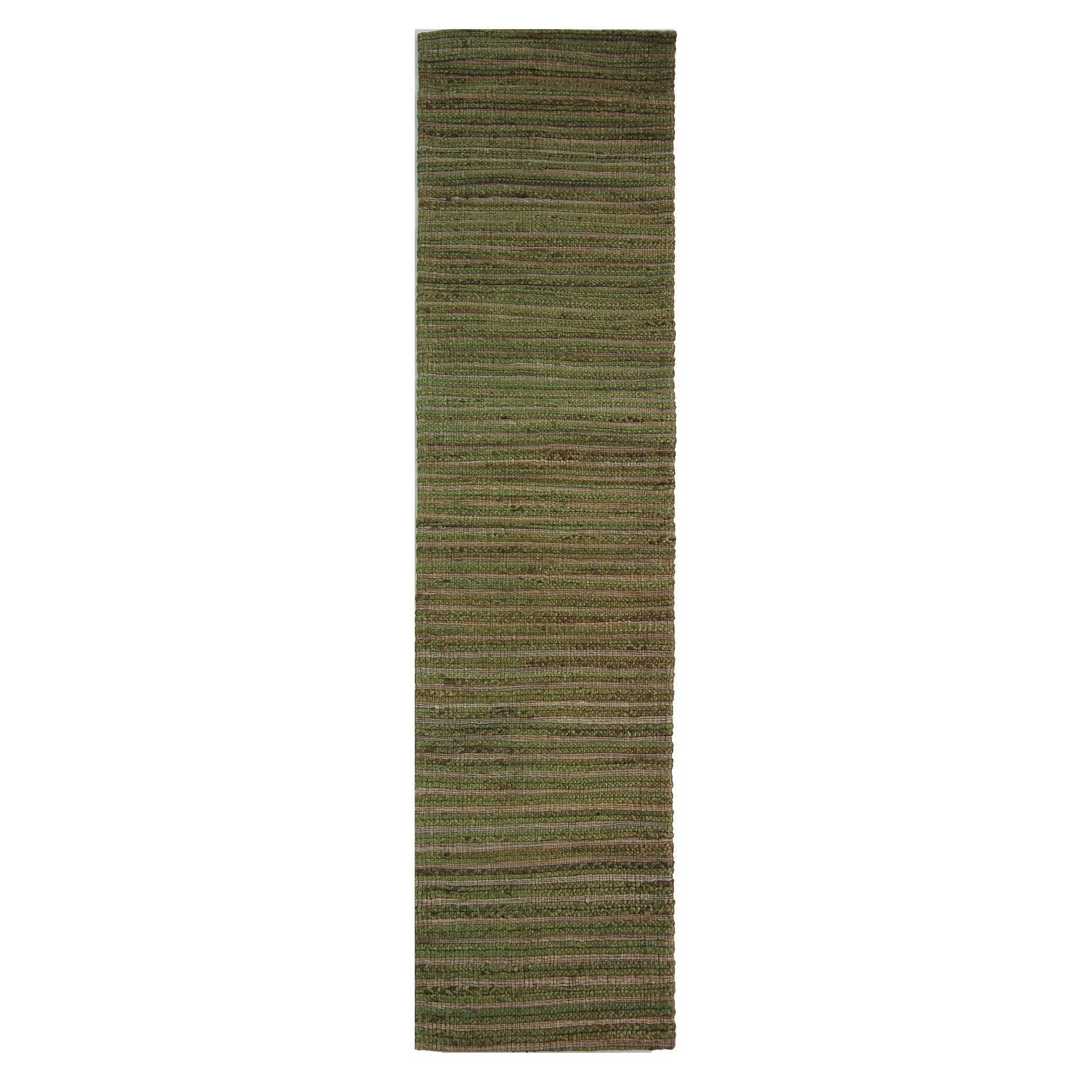 Sage Stripe Jute Runner Sage (Green)
