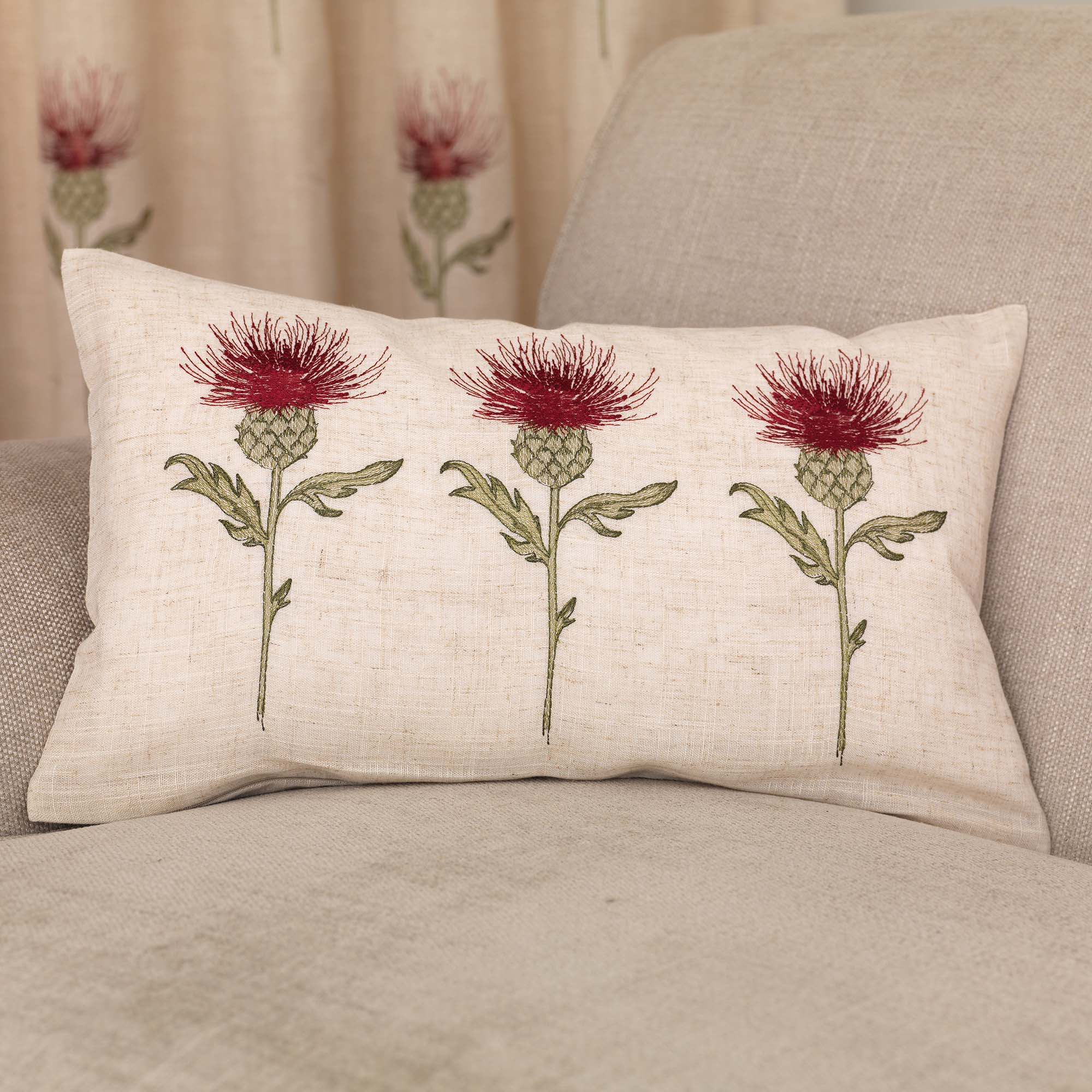 Photo of Thistle cushion red