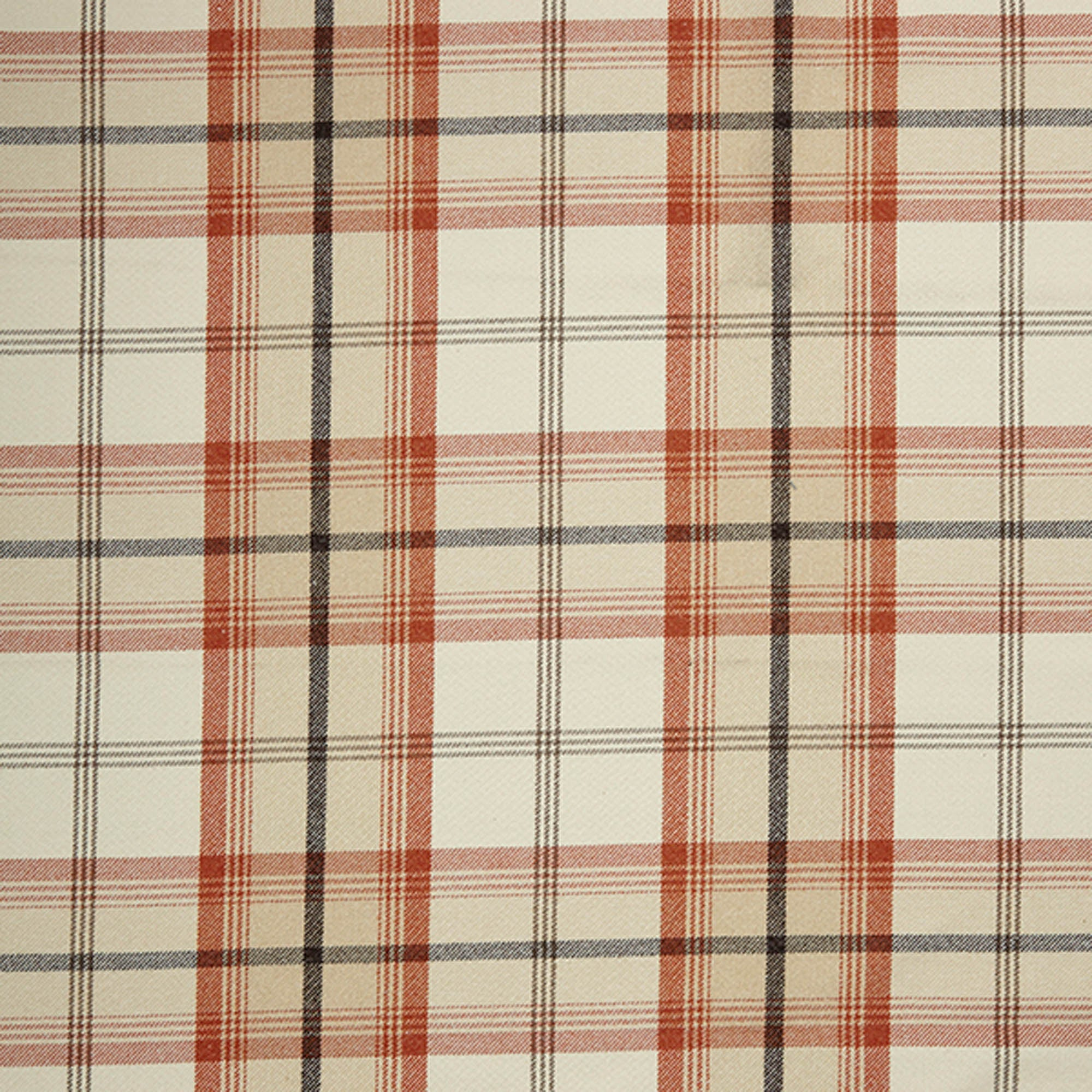 Photo of Highland check autumn fabric autumn -brown-