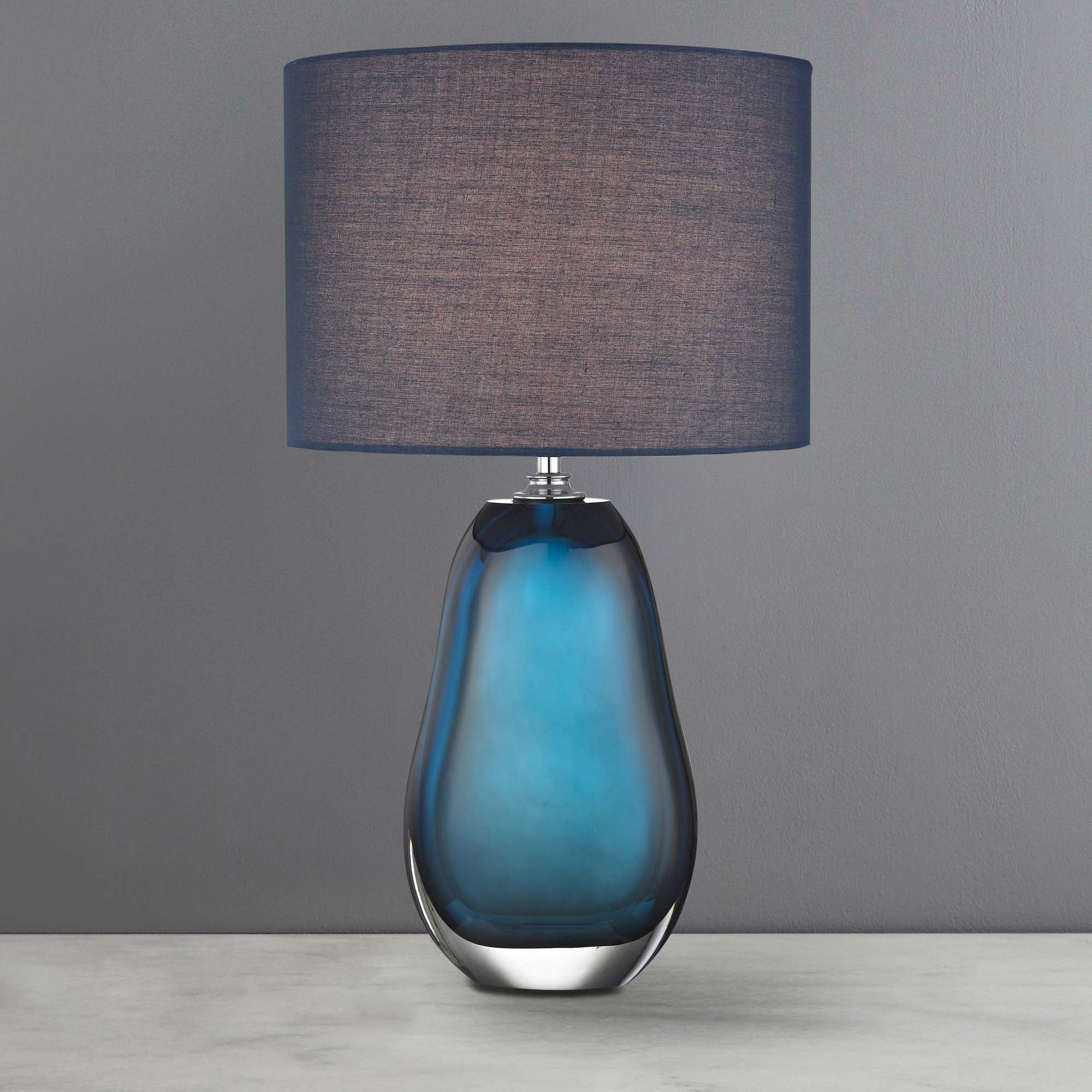 Image of 5A Fifth Avenue Alston Navy Glass Lamp Navy