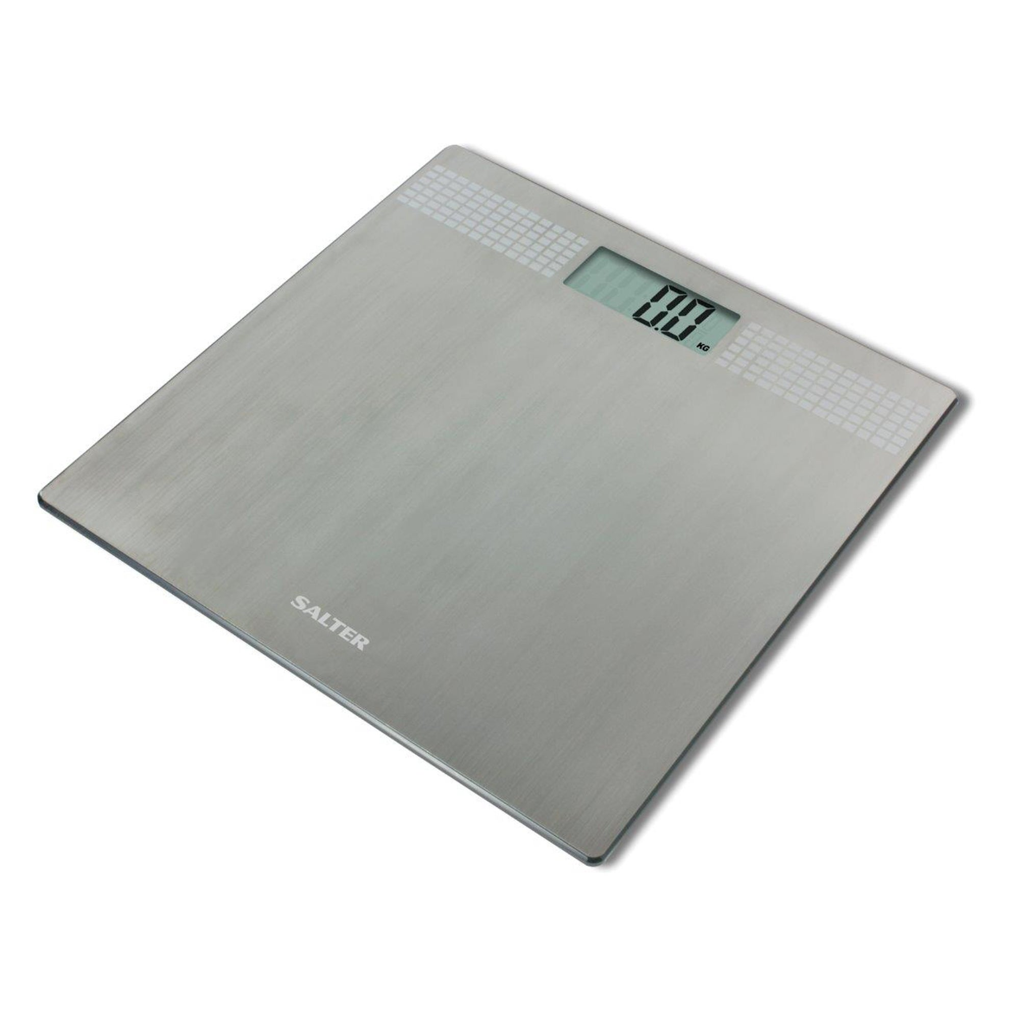 Salter UltraSlim Silver Electronic Bathroom Scale Stainless Steel