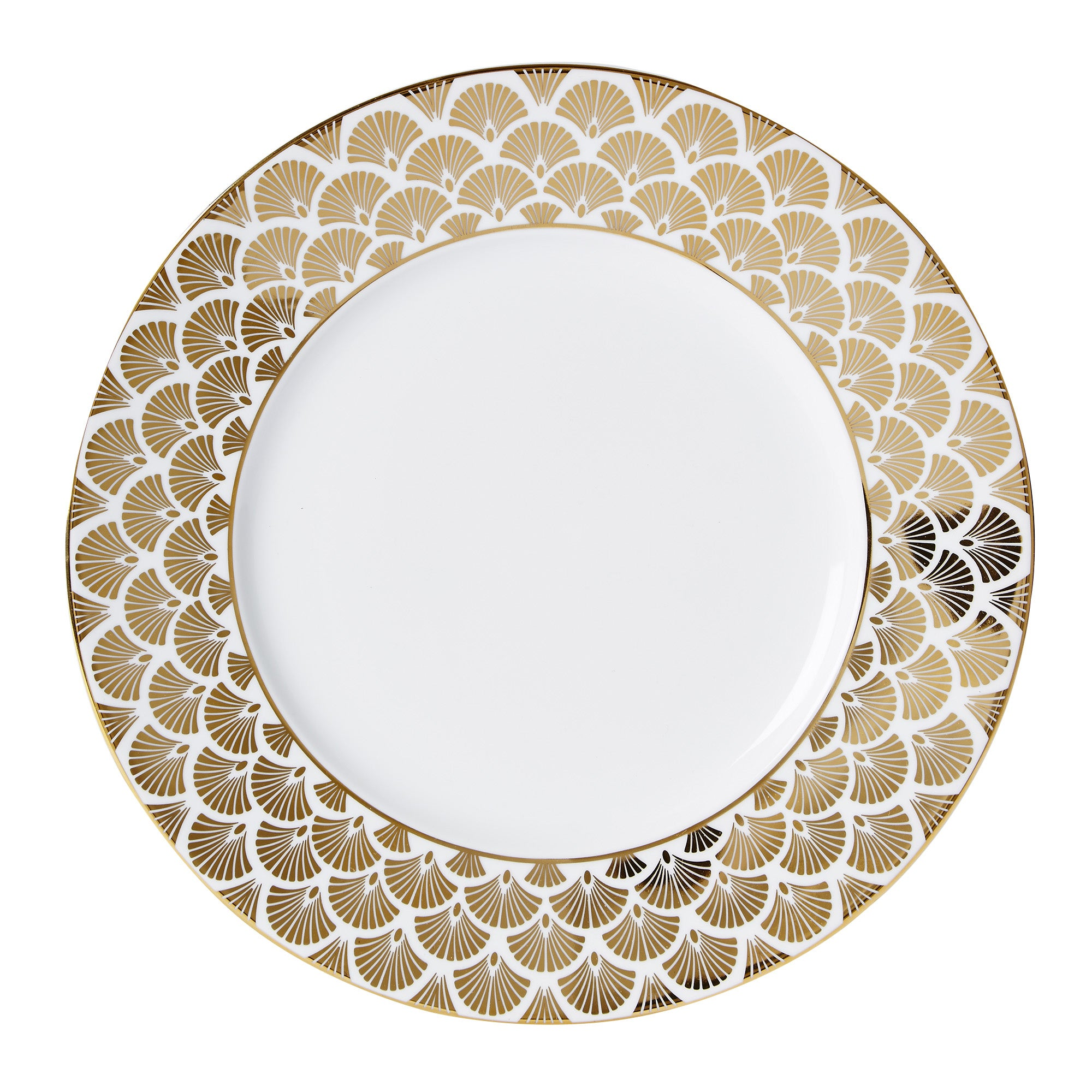 Image of 5A Fifth Avenue Bergen Gold Dinner Plate Gold