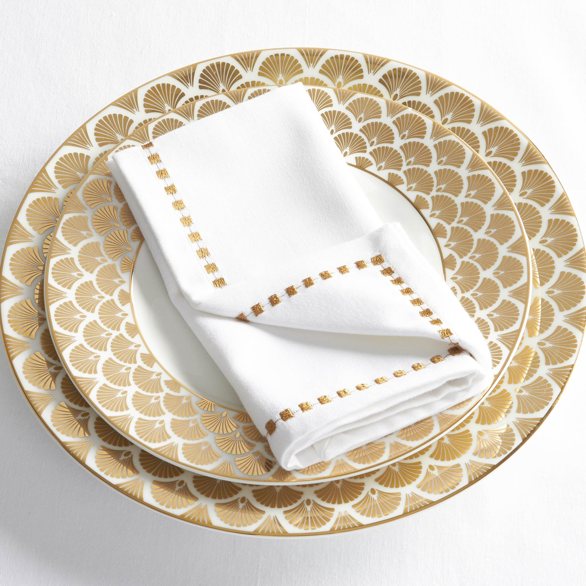 Image of 5A Fifth Avenue 4 Pack of White Napkins White