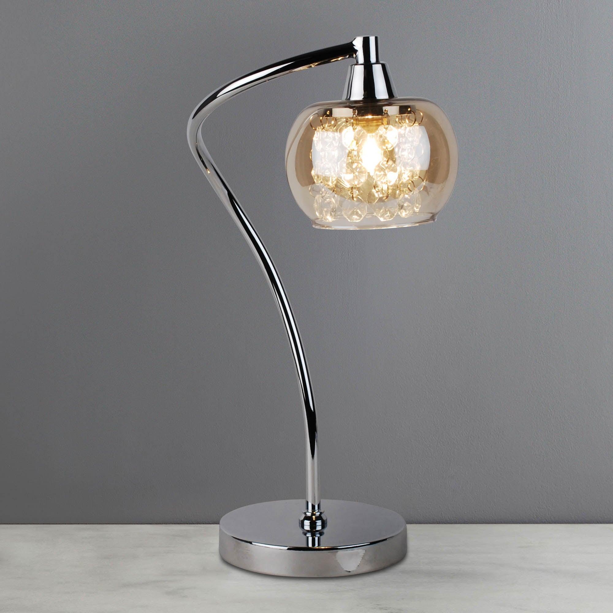 Photo of Seychelles chrome table lamp chrome