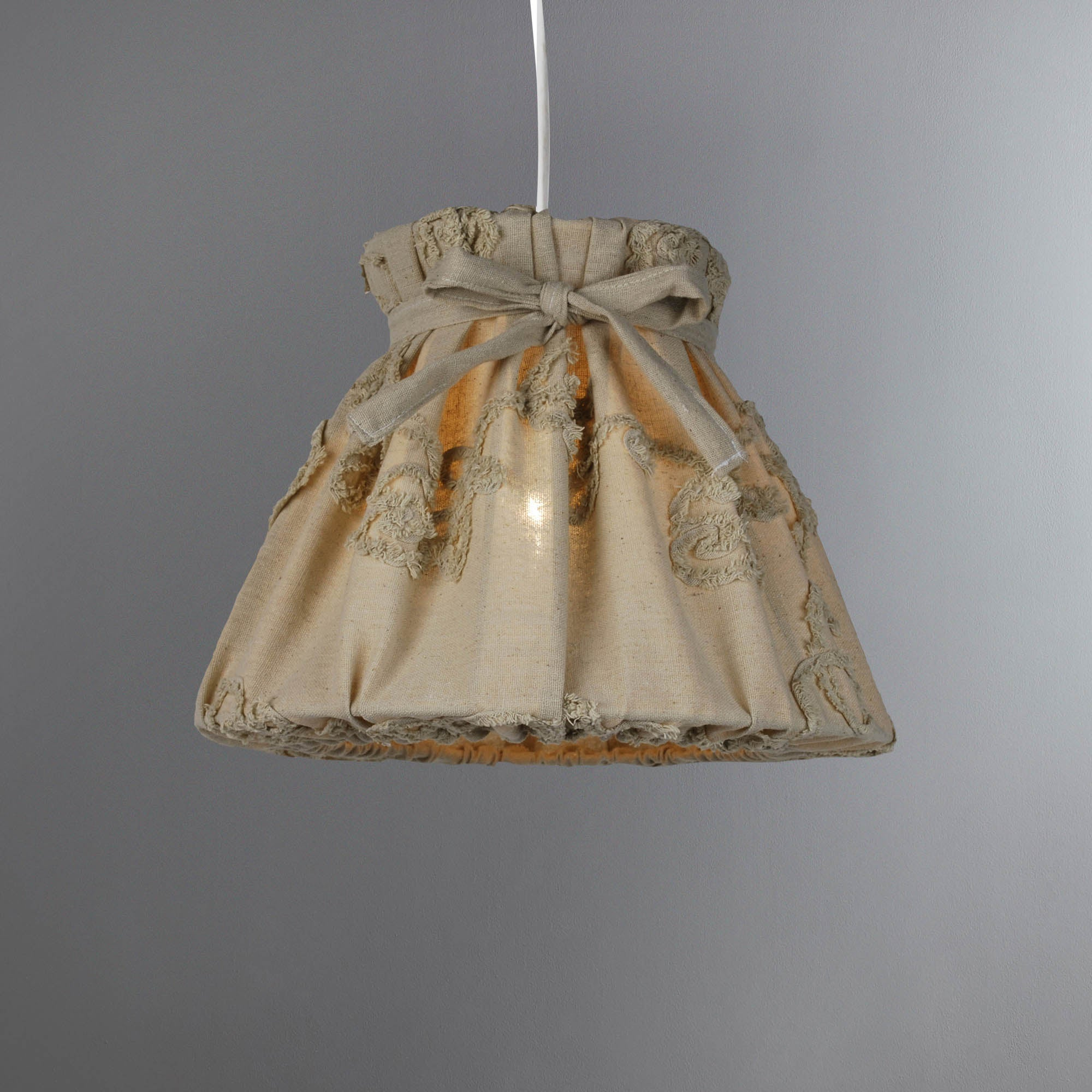 Photo of Adriene natural embroidered shade natural