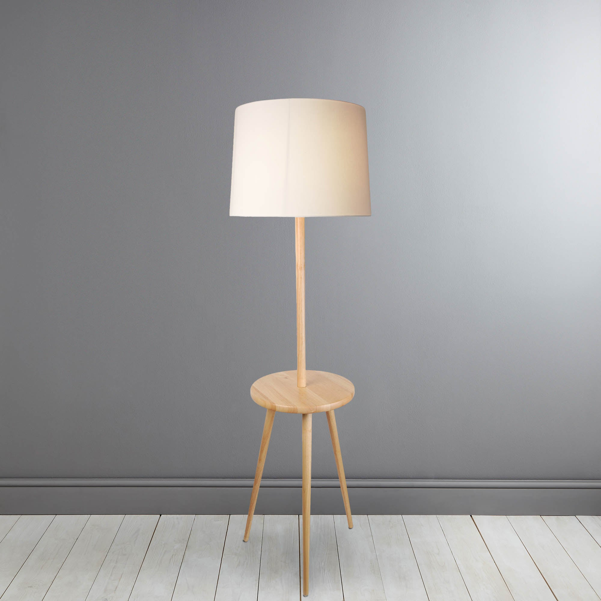 Photo of Elements folsom natural table detail floor lamp natural