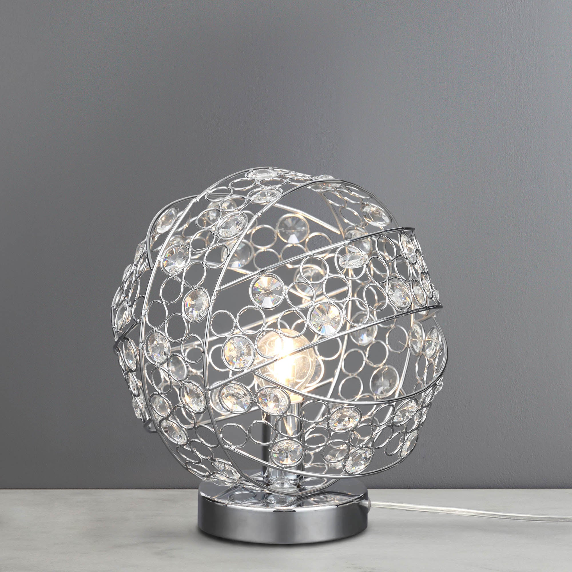 Photo of Candelo chrome table lamp chrome