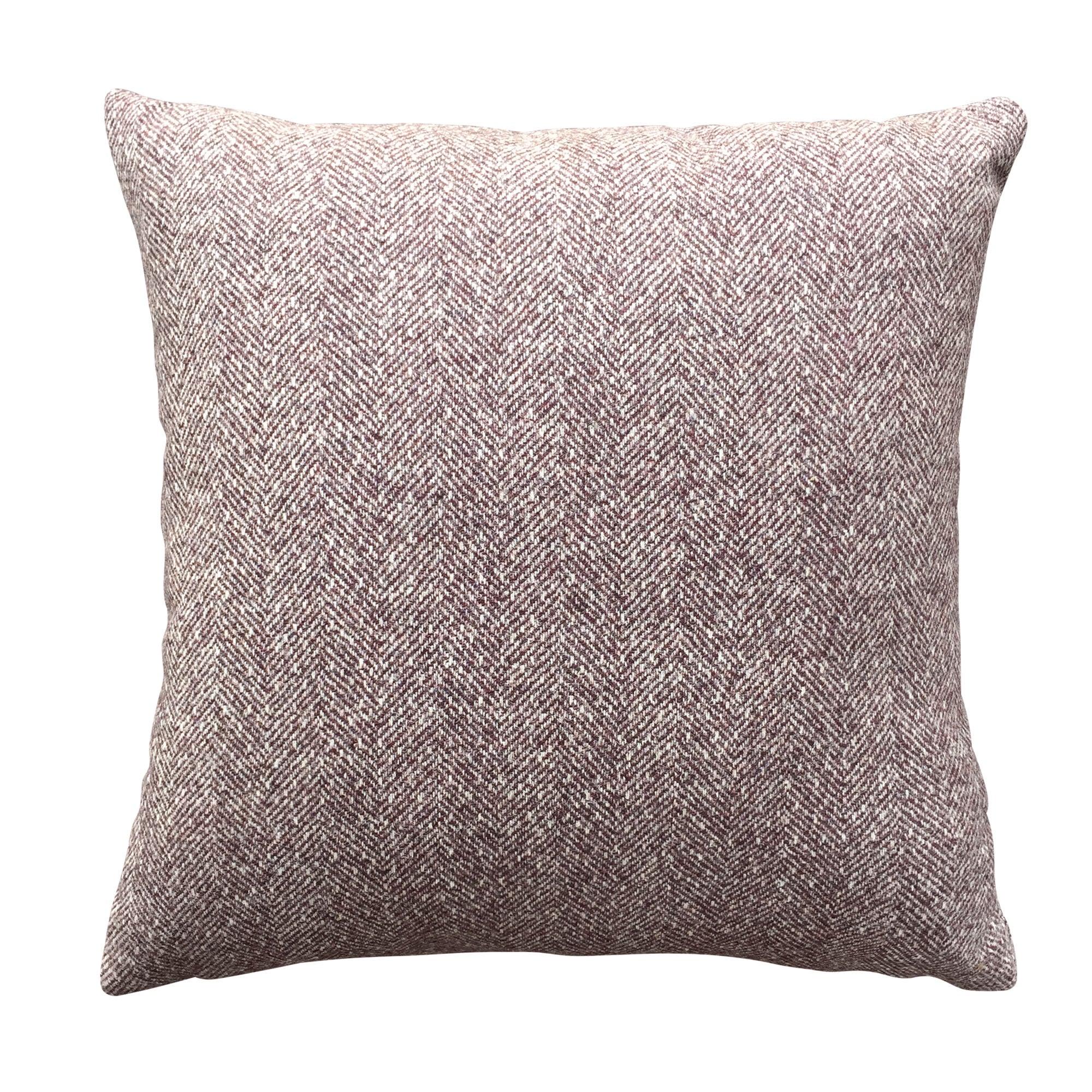 Image of 100% Wool Nico Plum Cushion Cover Plum Purple
