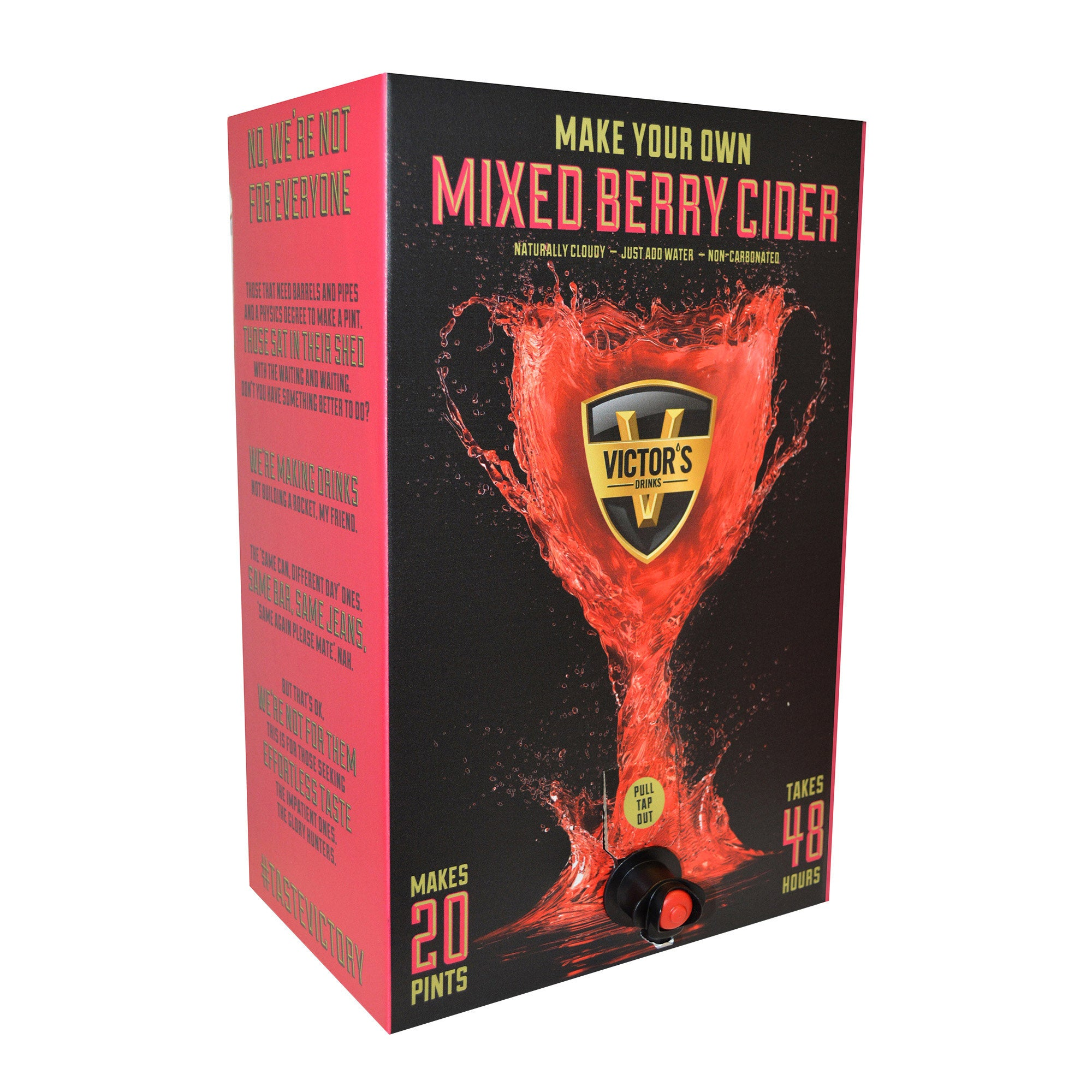 Photo of Victors drinks make your own mixed berry cider kit multi coloured