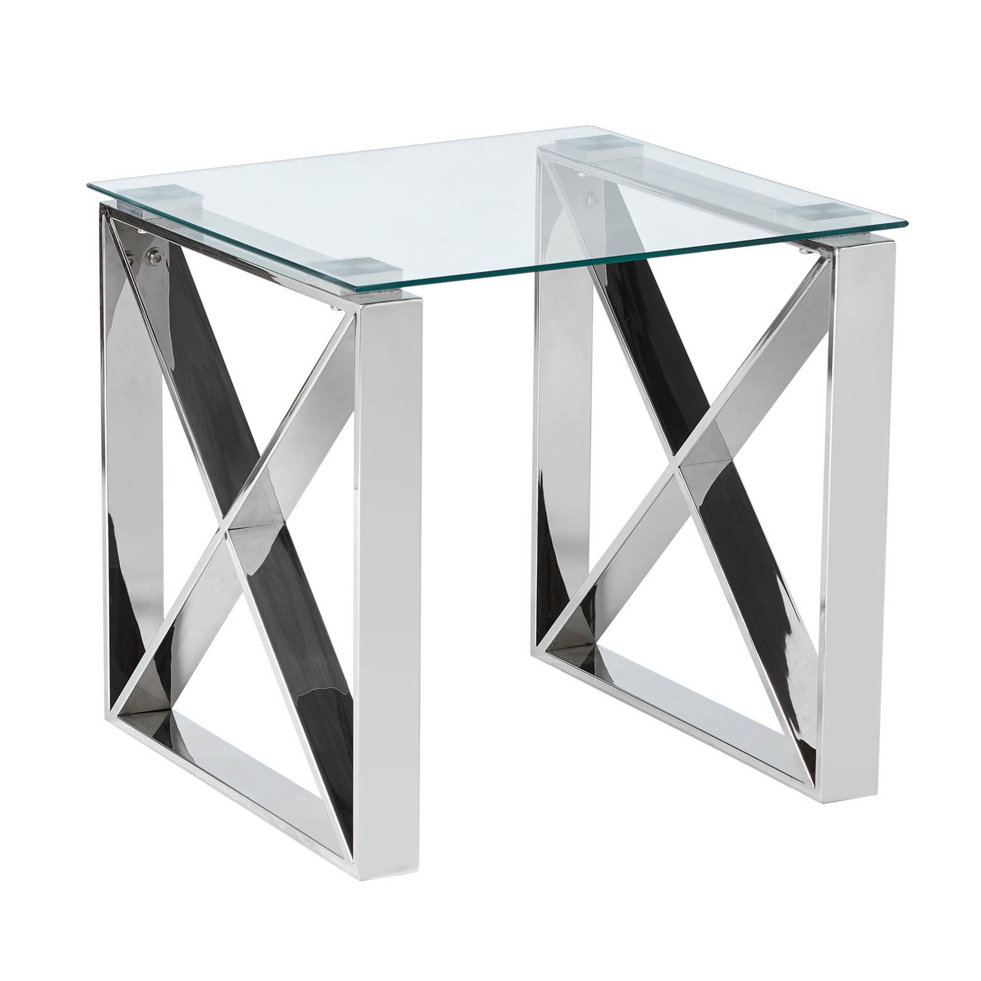 5A Fifth Avenue Madison Side Table Chrome