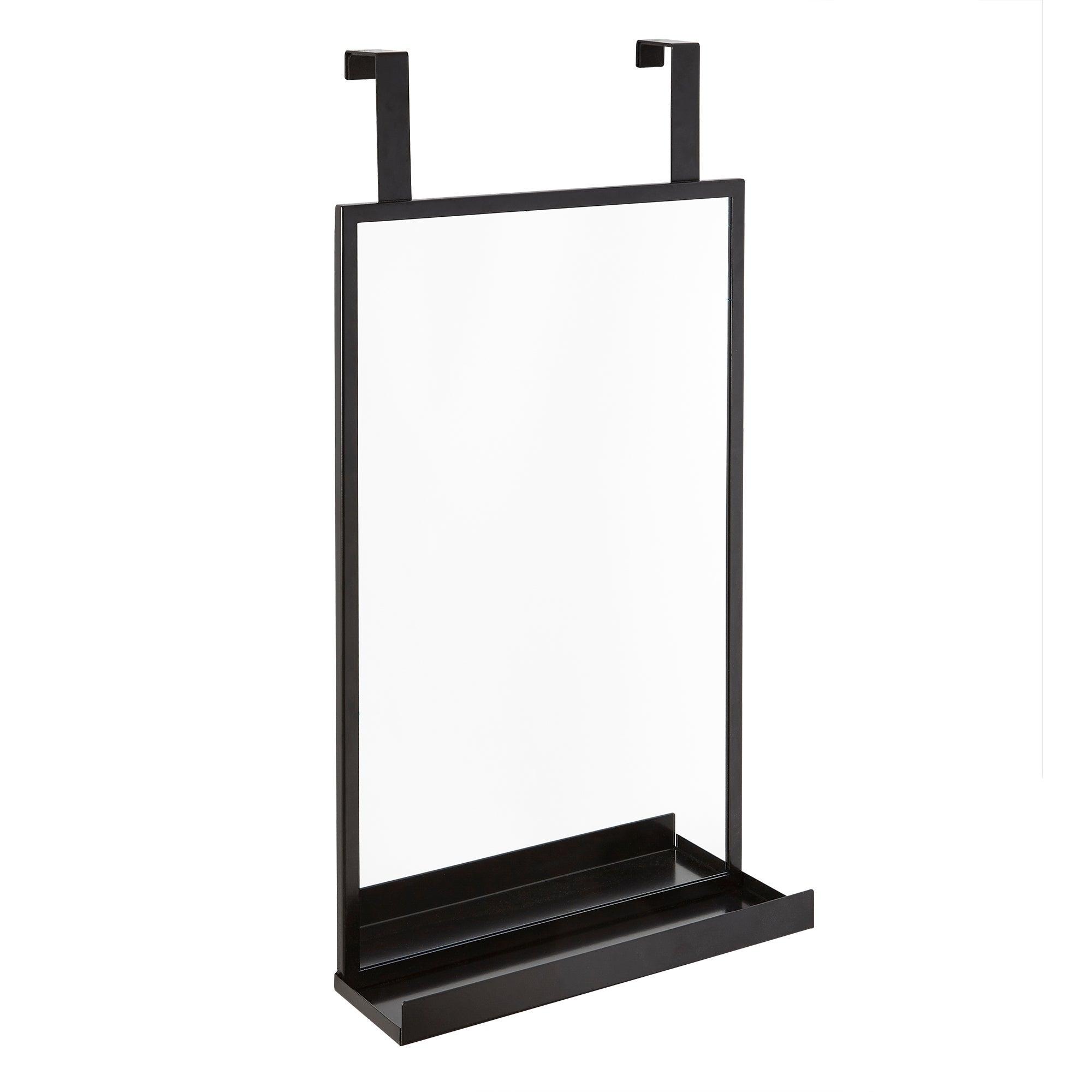 Photo of Hanging bathroom mirror black