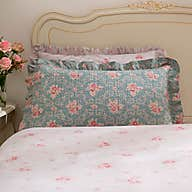 vintage floral pillow sham