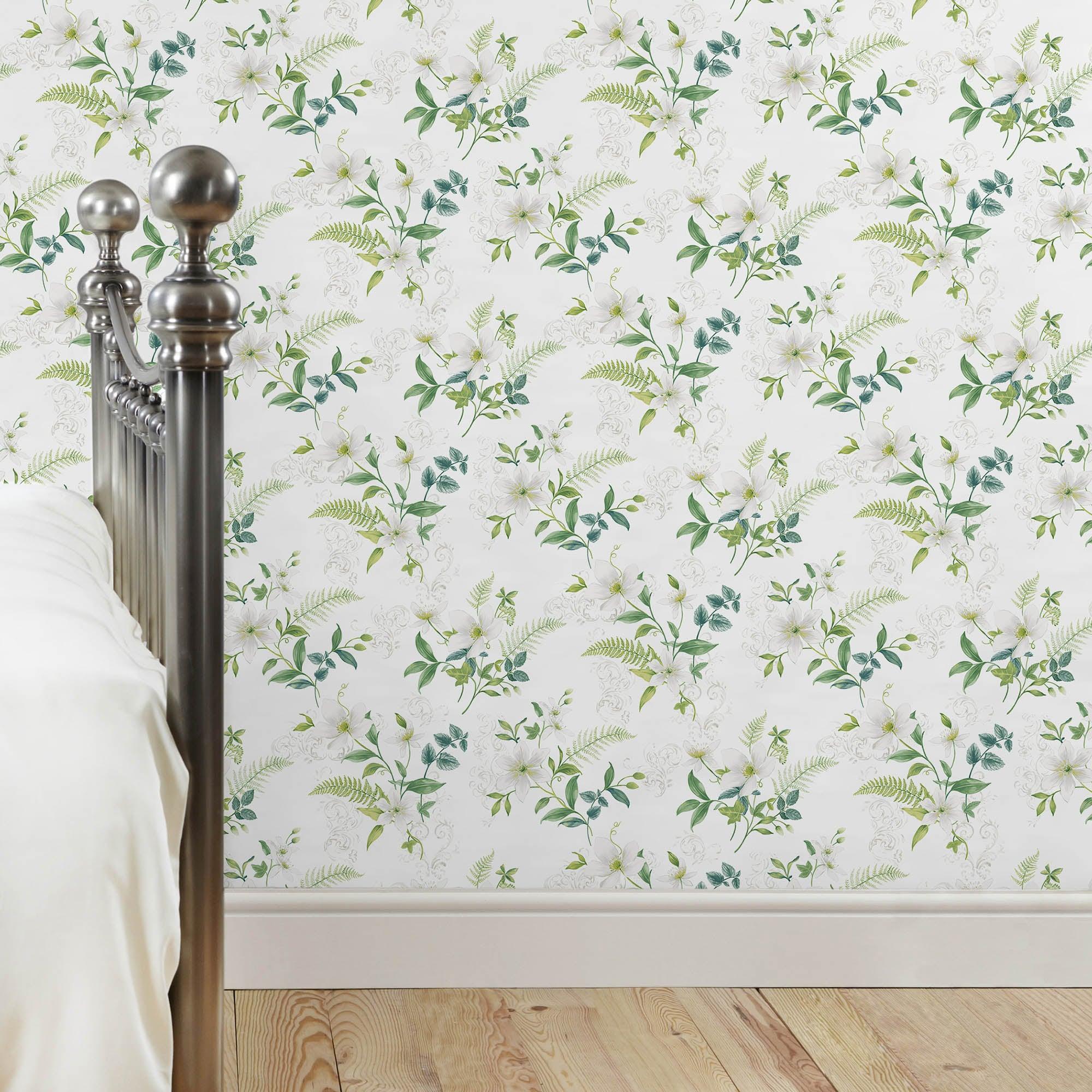 Dorma Botanical Wallpaper Green