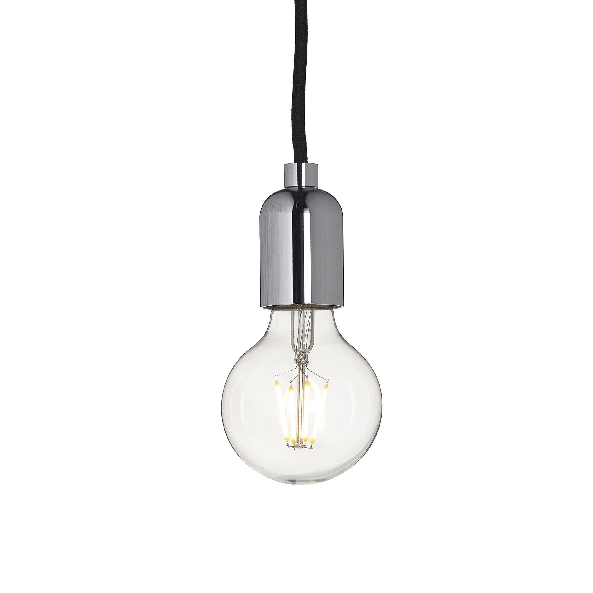 Photo of Vintage globe drop light bulb chrome