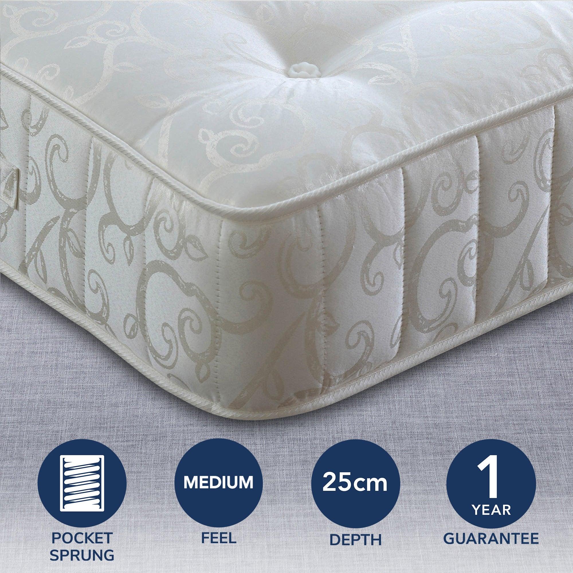 Image of 1000 Pocket Sprung Mattress White