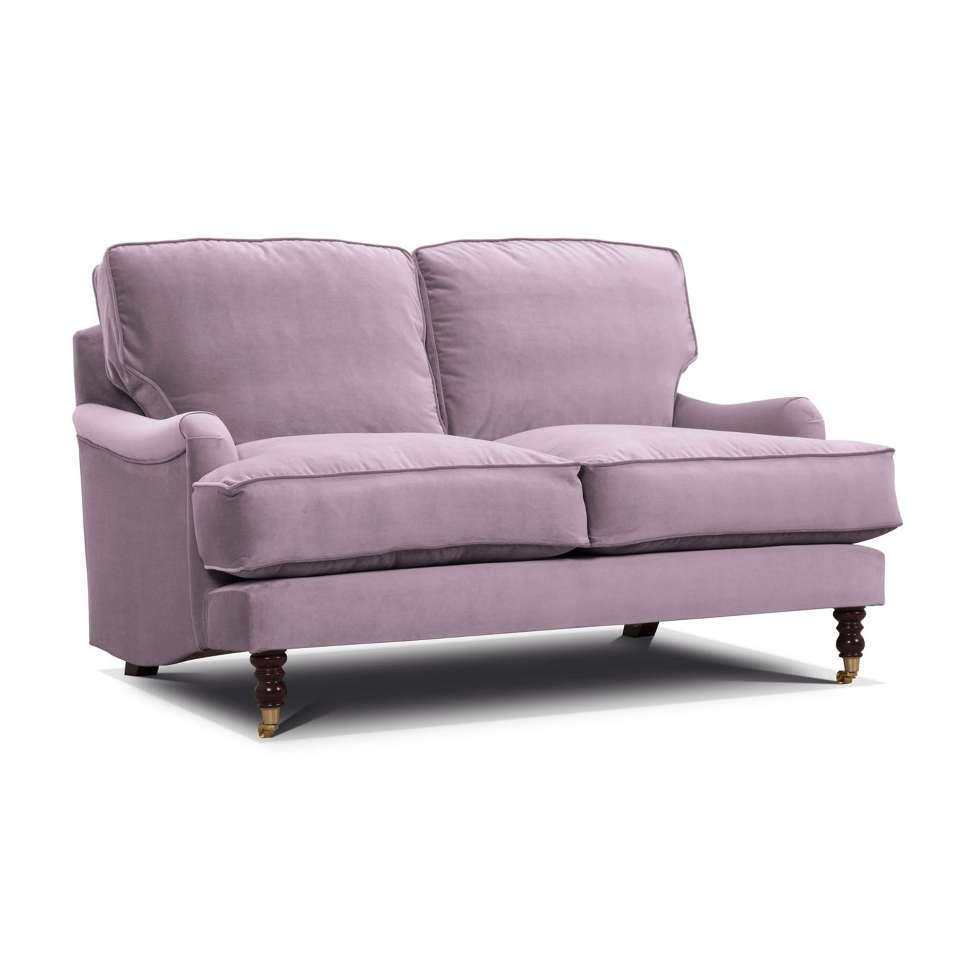 Photo of Annabelle italian velvet 3 seater sofa pale pink