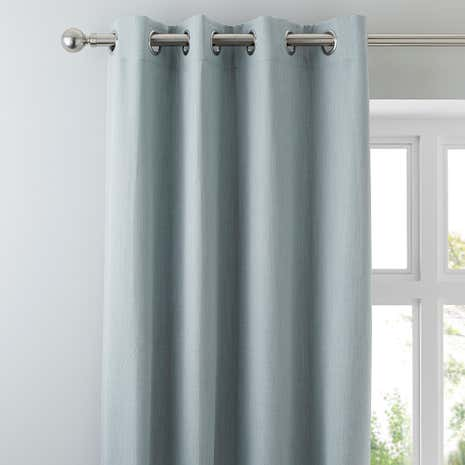 Solar Duck Egg Blackout Eyelet Curtains