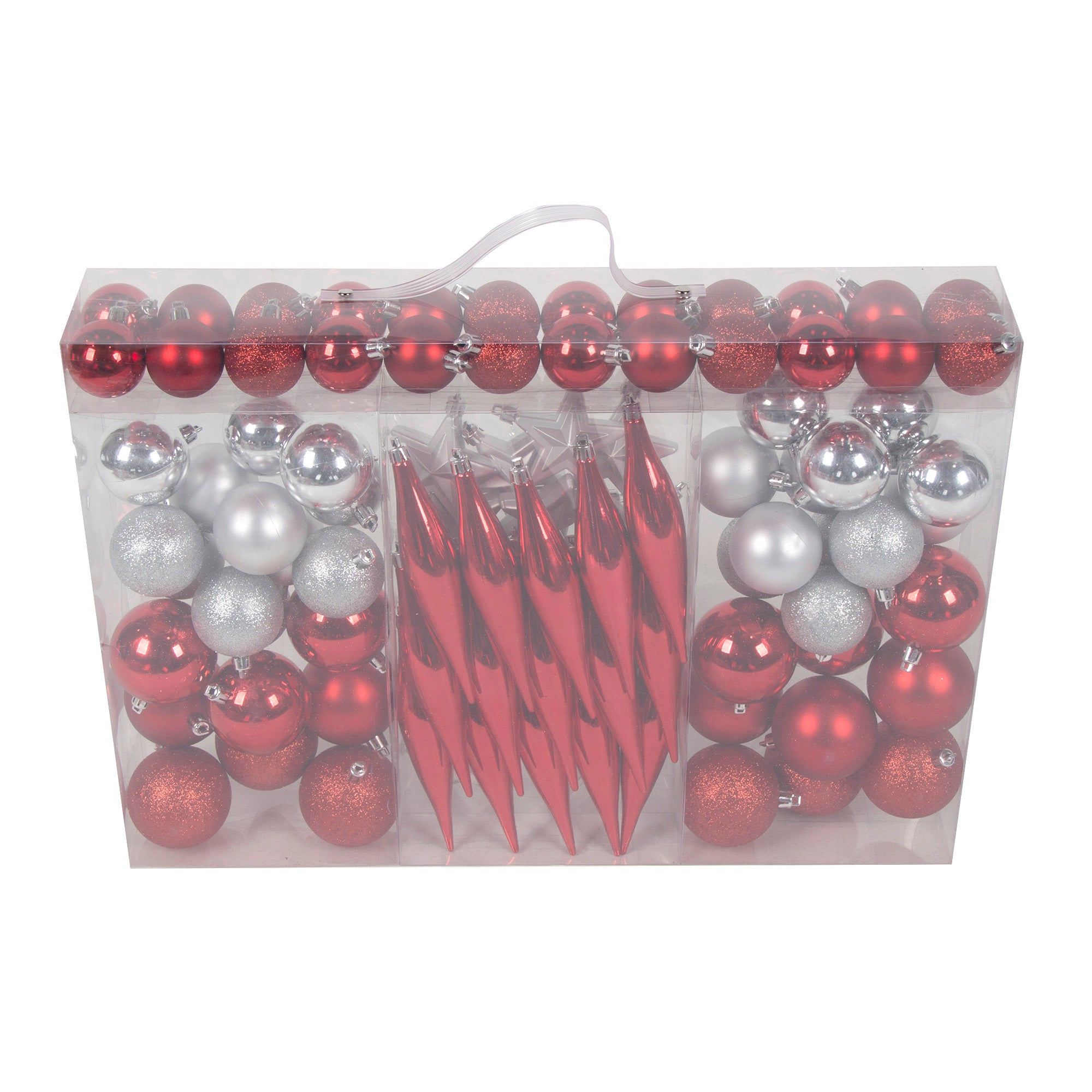 Photo of Multi pack of 100 baubles multi coloured