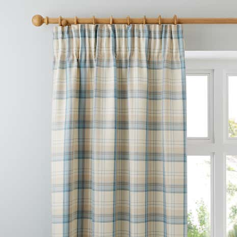 Balmoral Duck Egg Lined Pencil Pleat Curtains