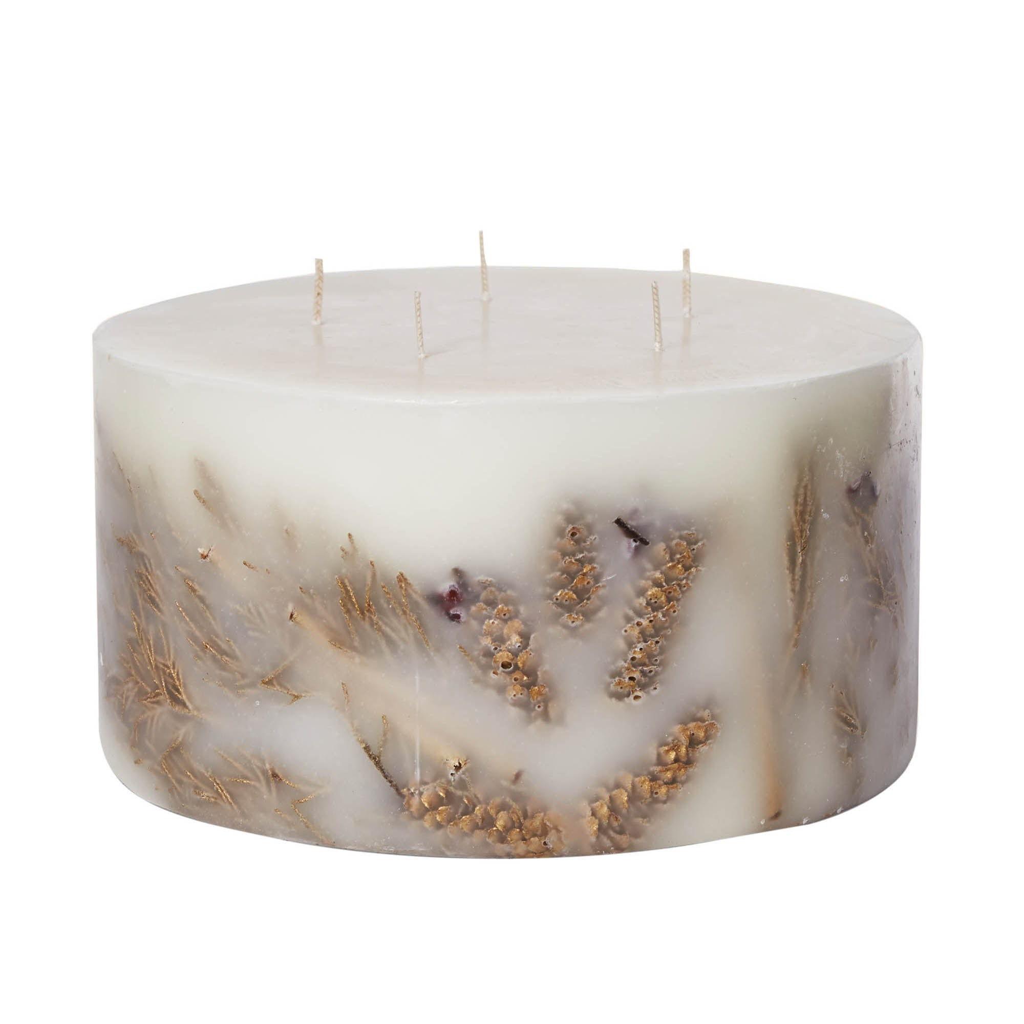 Photo of Large 5 wick frankincense & myrrh inclusion candle cream