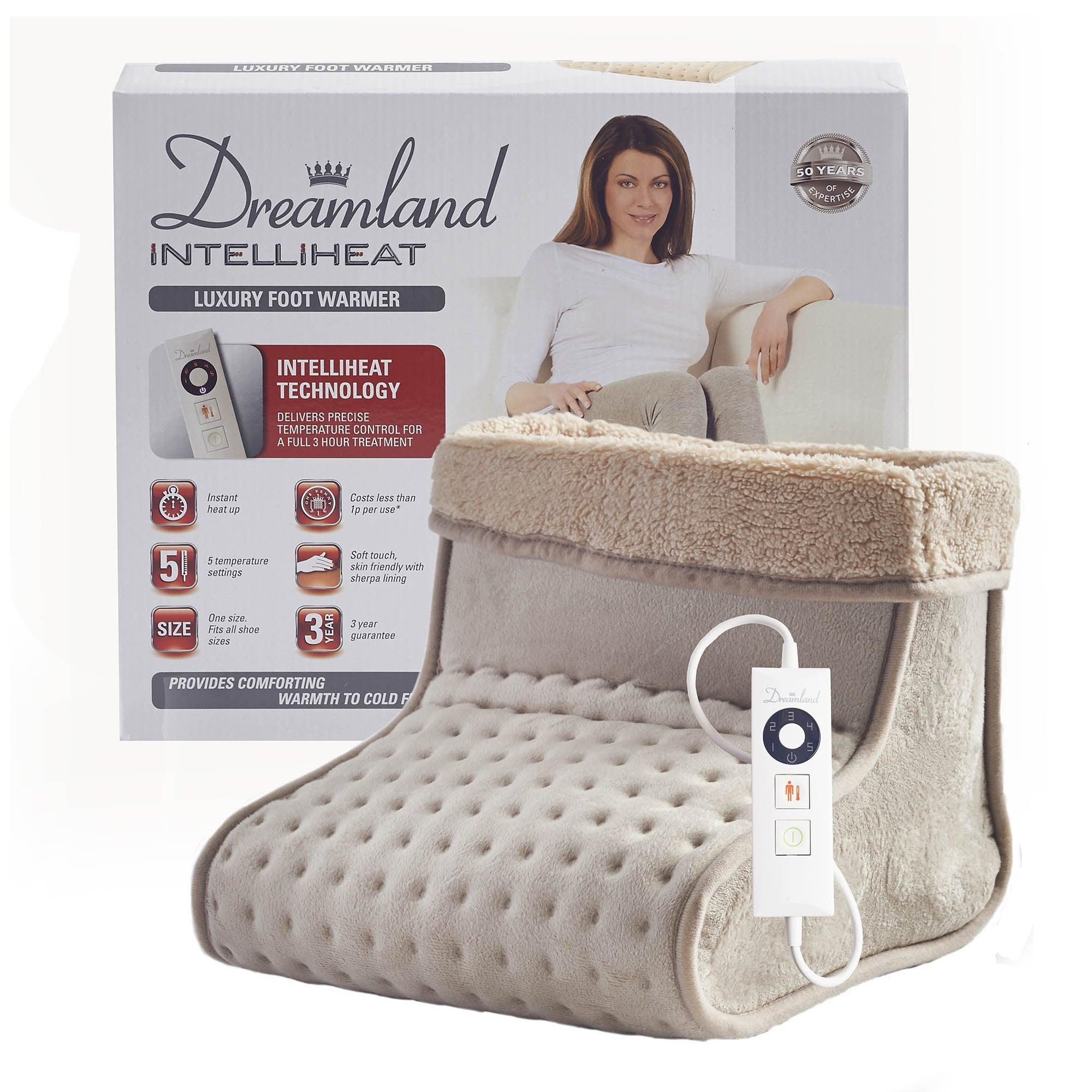 Dreamland Intelliheat Luxury Foot Warmer Natural
