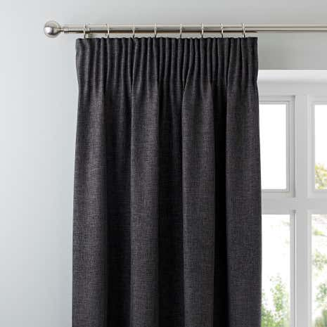 Awesome Vermont Charcoal Lined Pencil Pleat Curtains