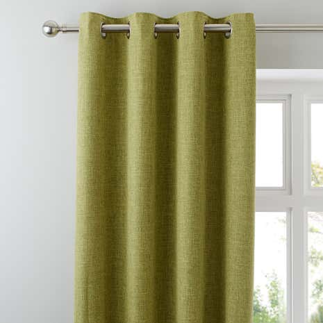 Vermont Green Lined Eyelet Curtains Part 63