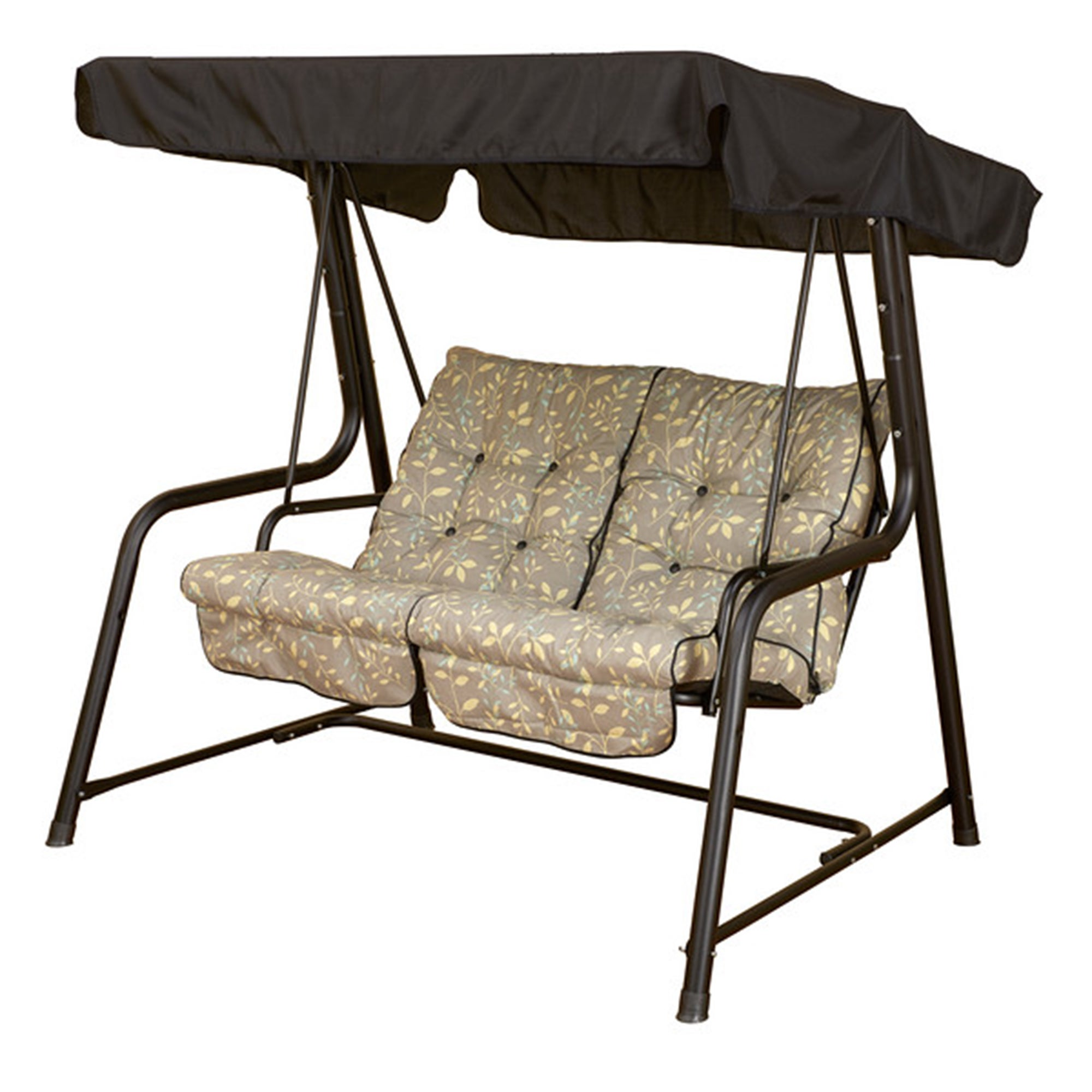 Glendale Country Teal 2 Seater Swing Seat Black