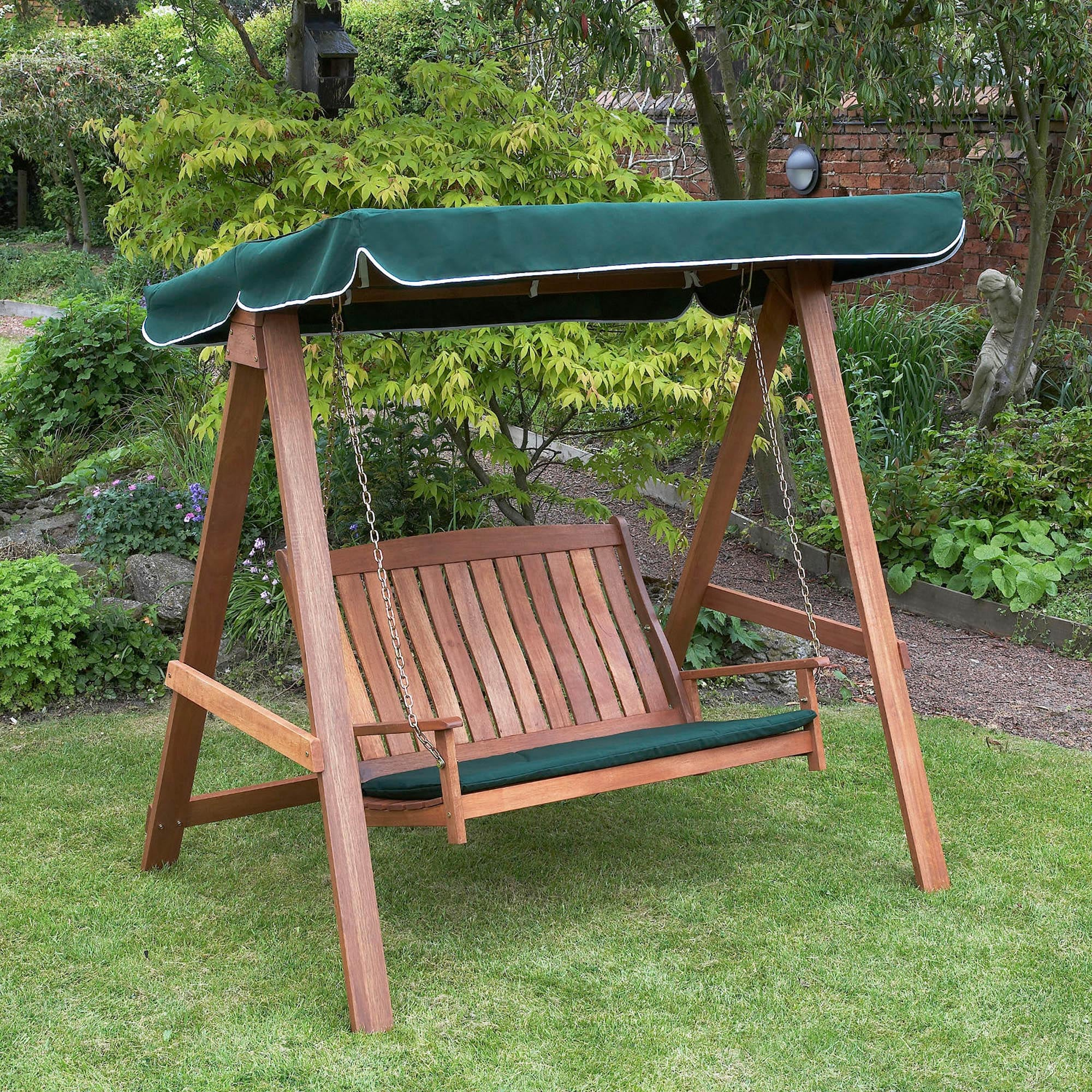 2 Seater Garden Swinging Hammock Green